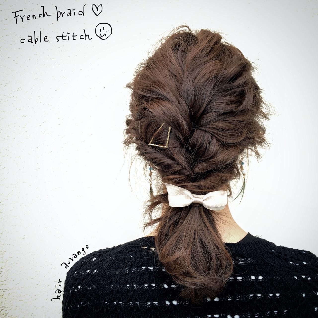 ヘアアレンジ ミディアムヘアスタイルや髪型の写真・画像
