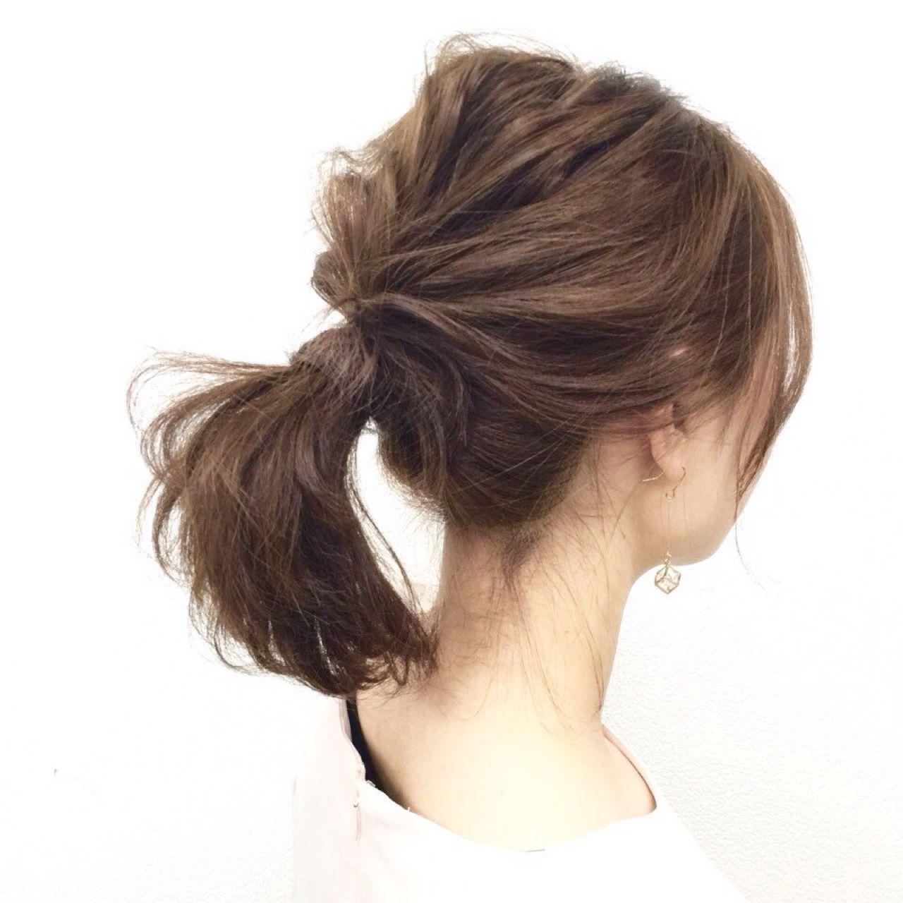 愛され ヘアアレンジ ポニーテール コンサバヘアスタイルや髪型の写真・画像
