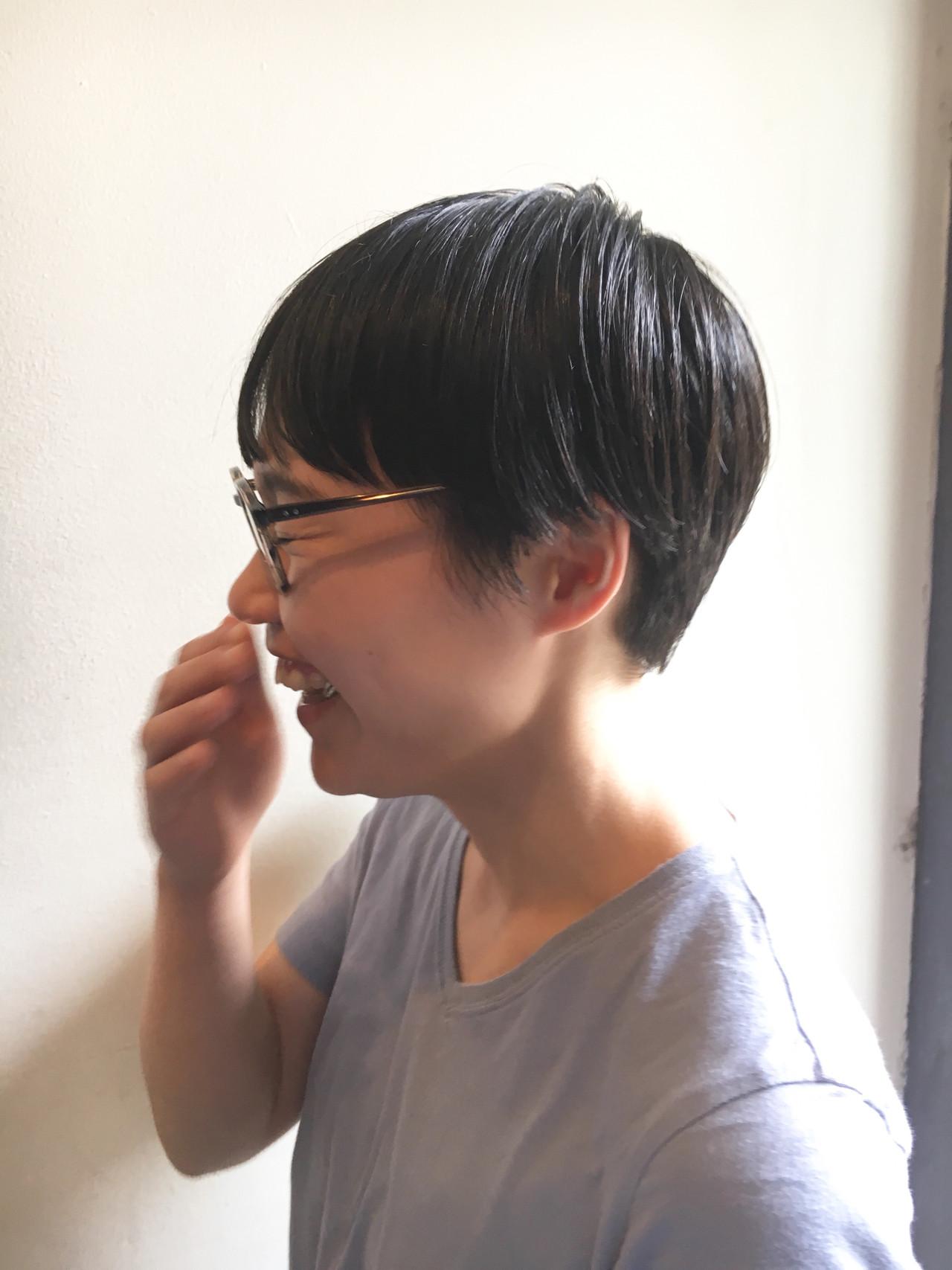 黒髪 マッシュショート マッシュヘア ナチュラル ヘアスタイルや髪型の写真・画像 | 京都/片山 勇馬/ショート / snob