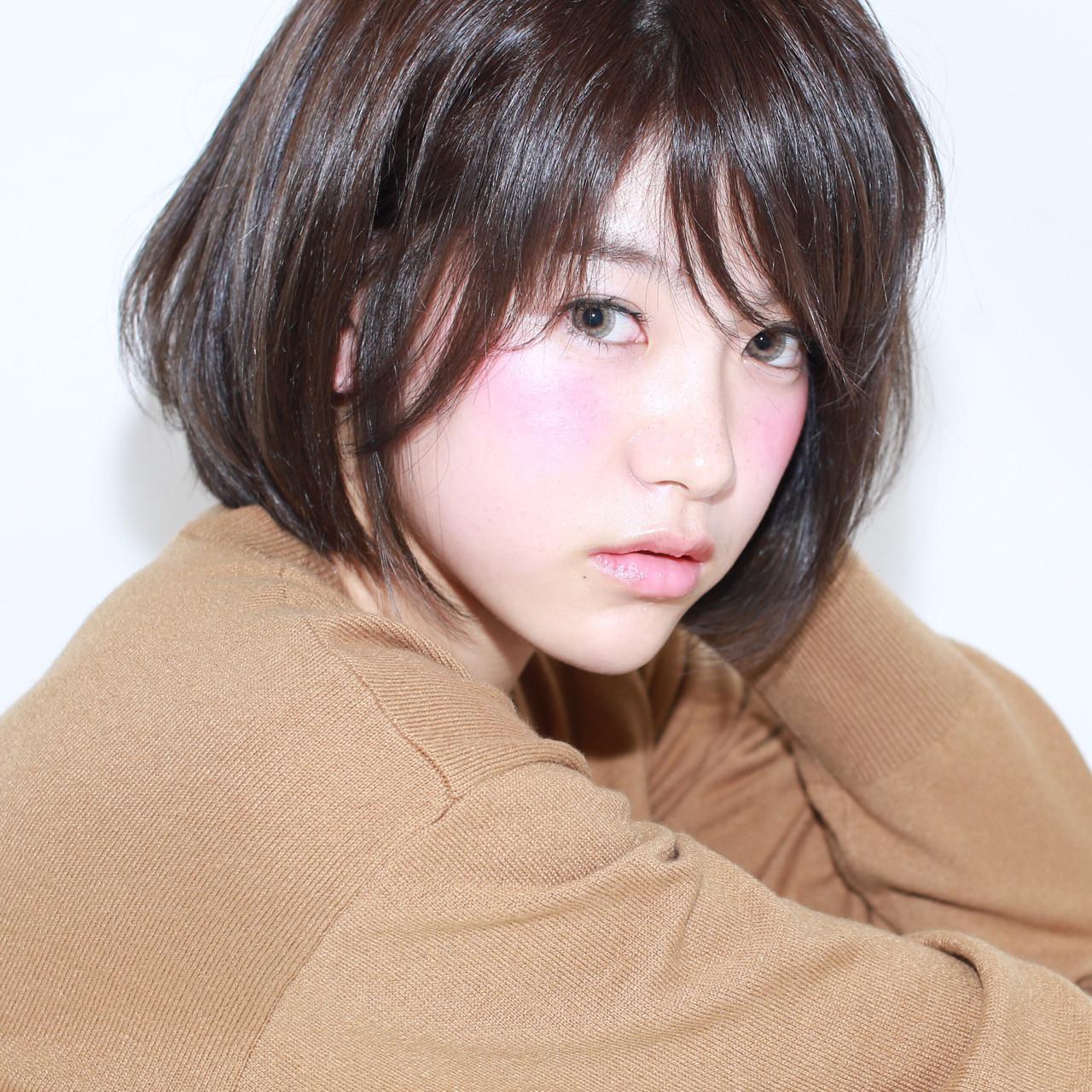 イルミナカラー 黒髪 暗髪 アッシュ ヘアスタイルや髪型の写真・画像   イマムラ スナオ / LUKE