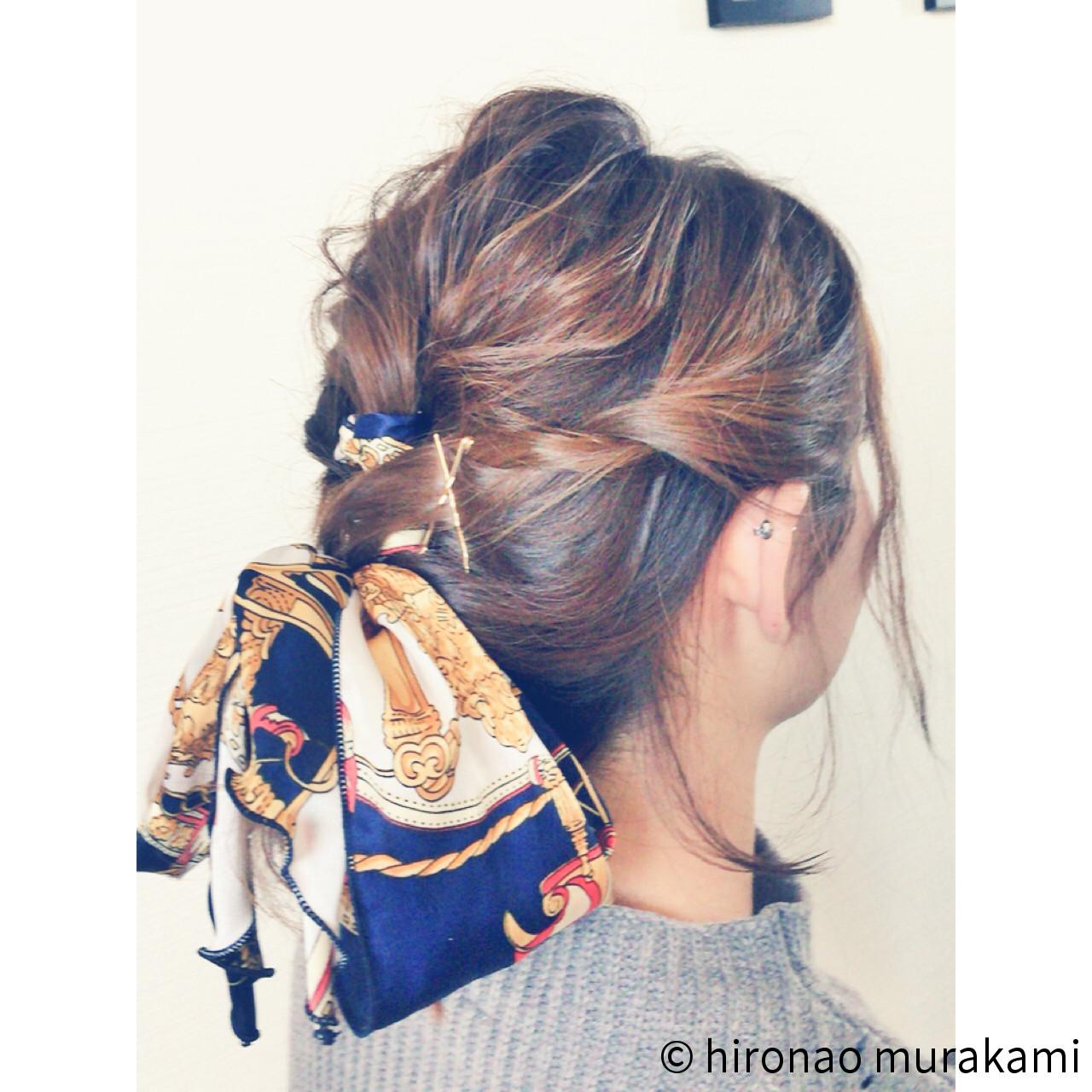 ポニーテール×スカーフで作る簡単可愛いヘアスタイル♡ hironao murakami