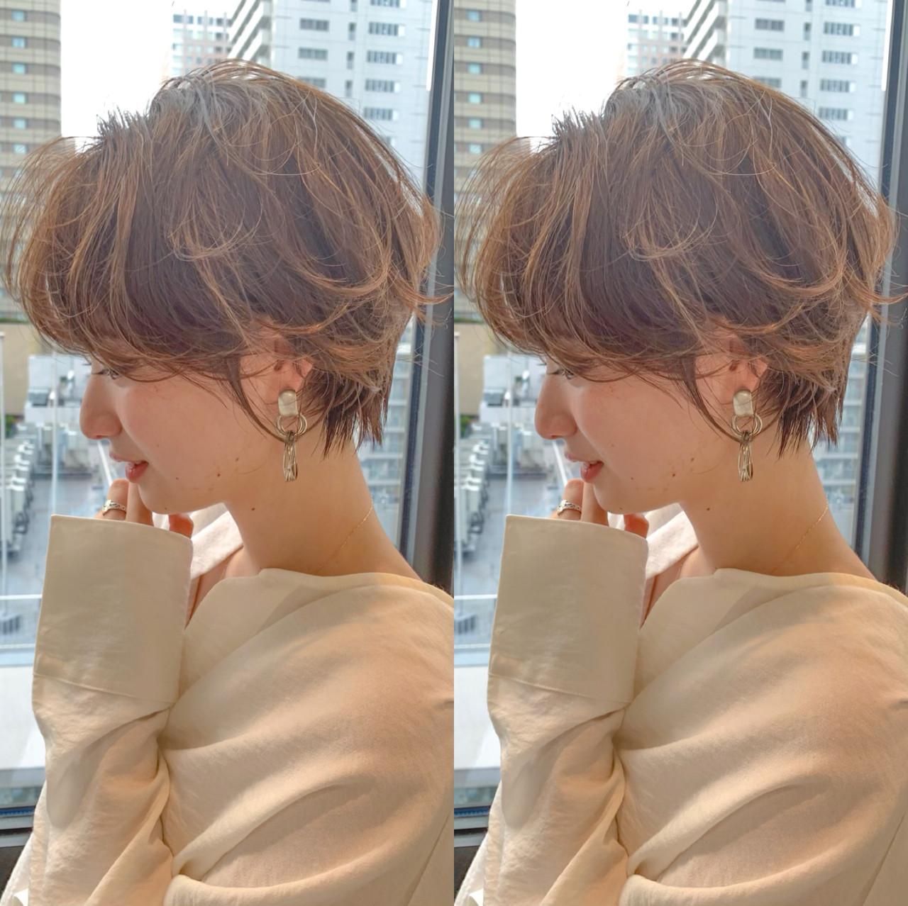 ショートパーマ ショート ガーリー ショートヘア ヘアスタイルや髪型の写真・画像 | SOSHI / Cafune by Garland