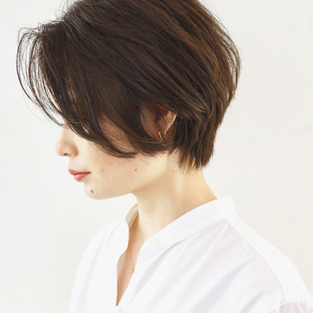 ストリート ハンサムショート ショートボブ グレージュ ヘアスタイルや髪型の写真・画像 | 三好 佳奈美 / Baco.(バコ)