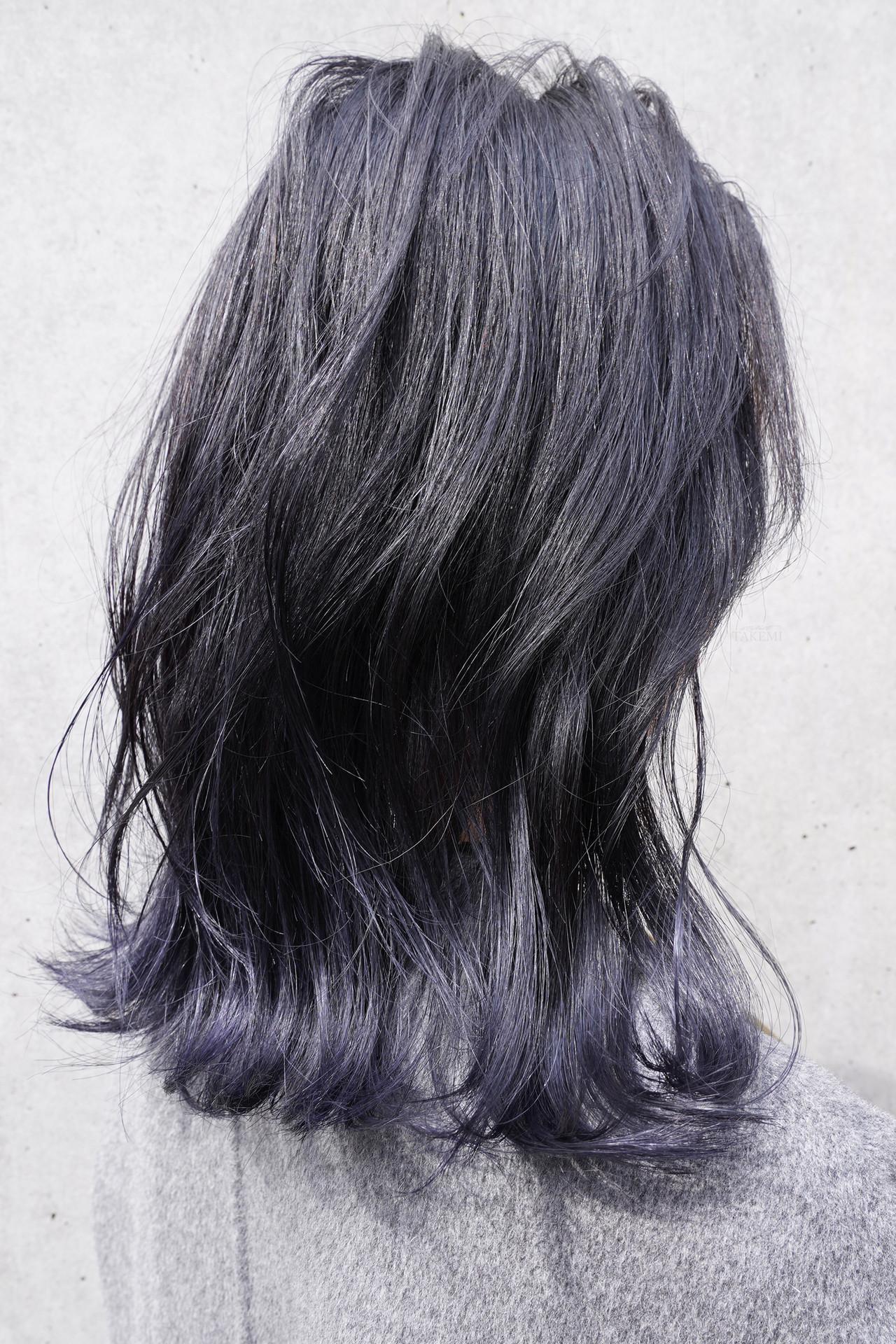 ローライト ガーリー ハイライト ミディアム ヘアスタイルや髪型の写真・画像 | TAKEMI / BEBE 表参道