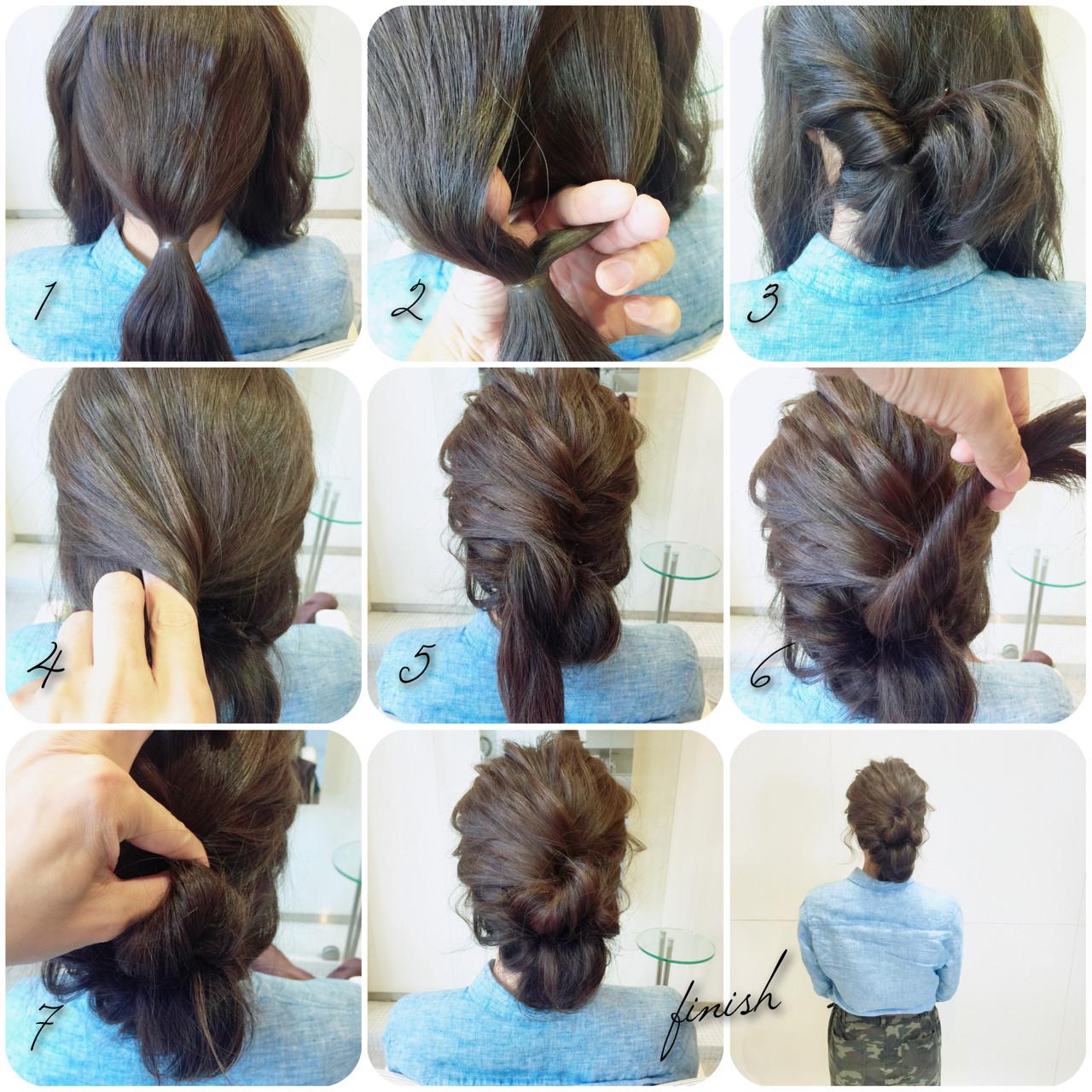 暗髪 ヘアアレンジ アッシュ くるりんぱ ヘアスタイルや髪型の写真・画像 | takashi cawamura / HAIR & MAKE•UP TAXI