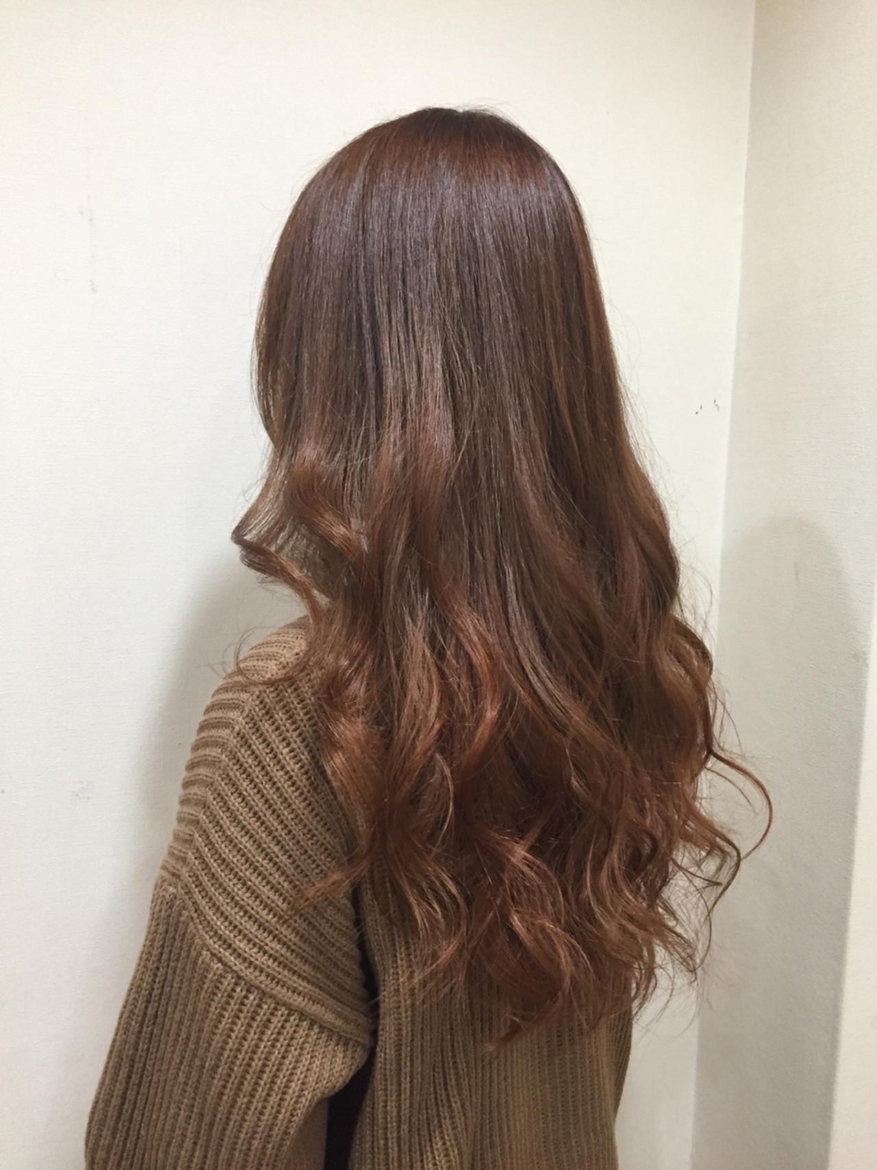 外国人風カラー ストリート ロング オレンジ ヘアスタイルや髪型の写真・画像 | 堂園知里 / hair Mission