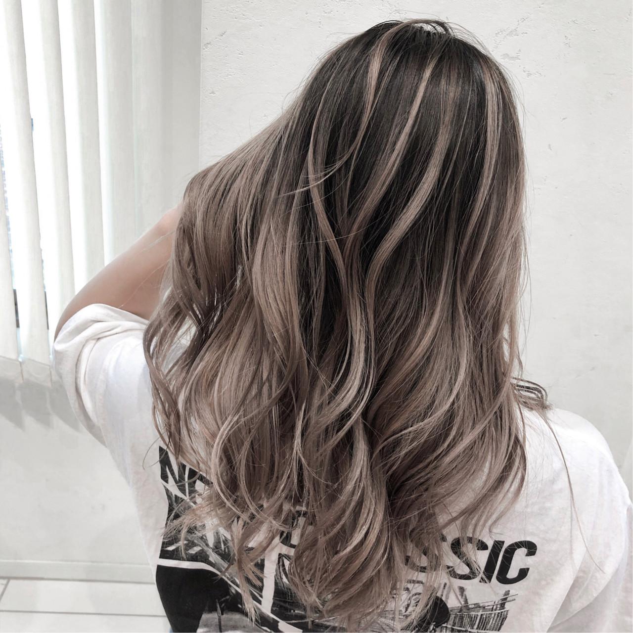 外国人風カラー ロング ハイライト ストリート ヘアスタイルや髪型の写真・画像   石瀧 大志 / luck本厚木