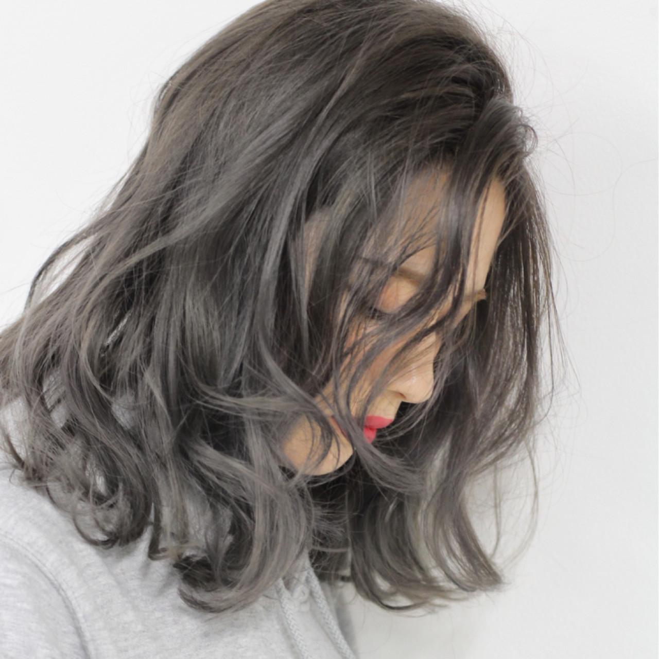 グラデーションカラー ストリート グレージュ ハイライト ヘアスタイルや髪型の写真・画像 | 仲澤 武 tornado / tornado  トルネード