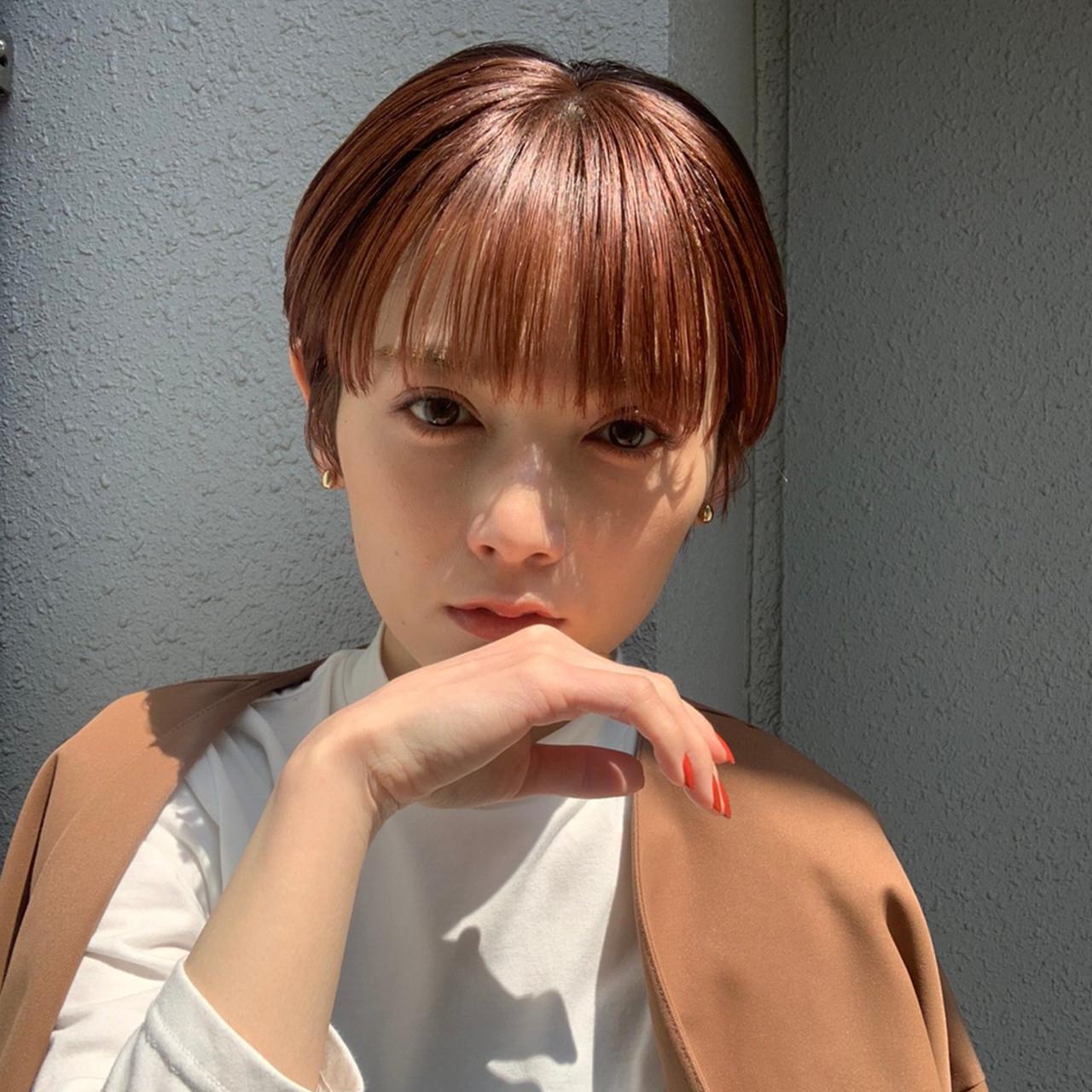 ベリーショート 前髪 ショートヘア ナチュラルヘアスタイルや髪型の写真・画像