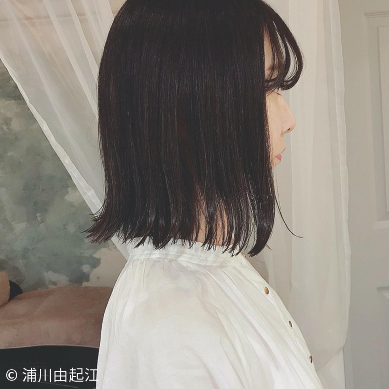 ゆるふわ ナチュラル 大人かわいい 切りっぱなし ヘアスタイルや髪型の写真・画像 | 浦川由起江 / nanon