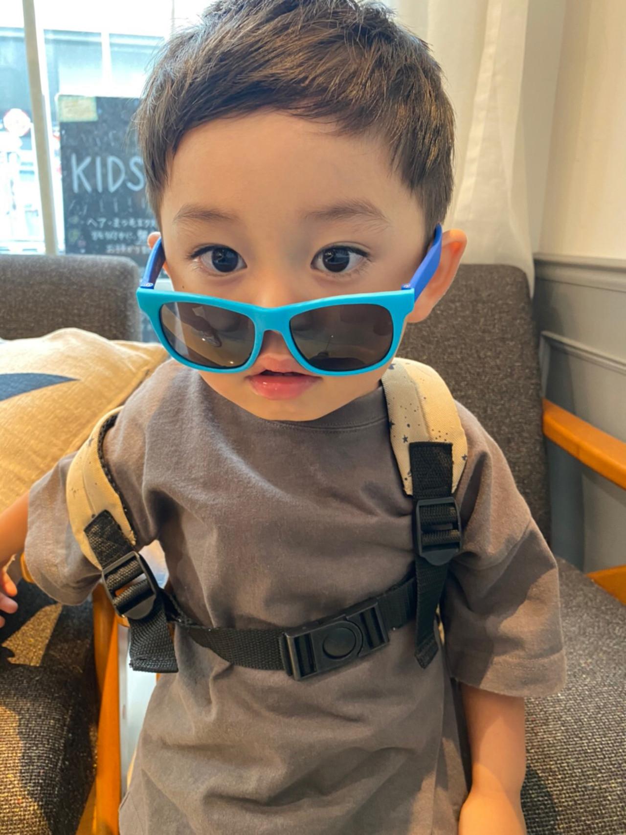 メンズショート キッズカット 子供 メンズカット ヘアスタイルや髪型の写真・画像 | カネコミキヒロ / Neolive aim 横浜西口店