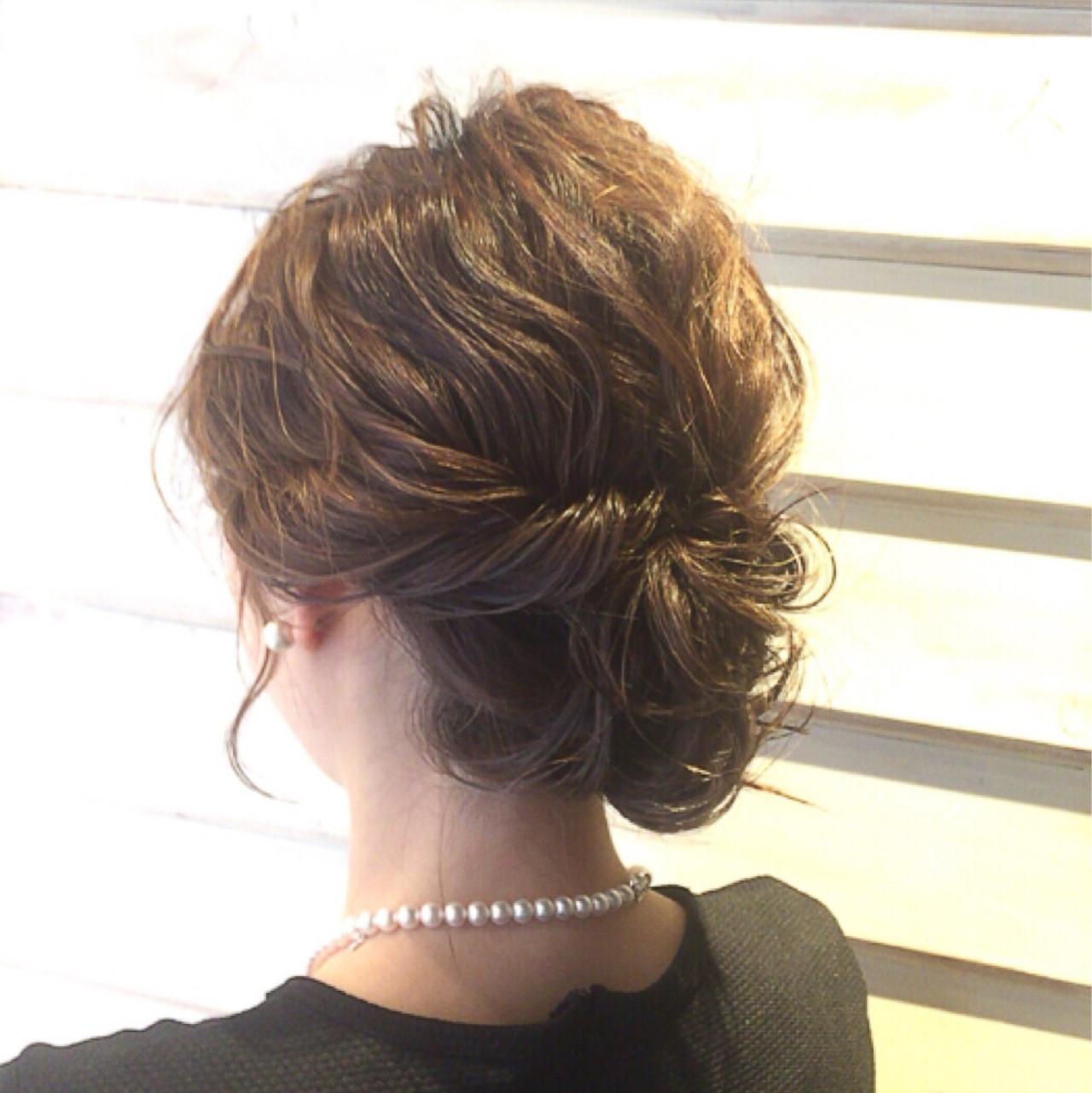 簡単ヘアアレンジ ヘアアレンジ ボブ ショートヘアスタイルや髪型の写真・画像