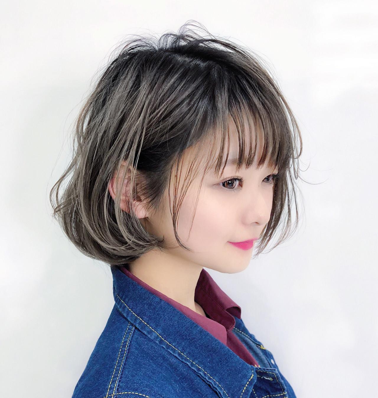 パーマ アンニュイほつれヘア ガーリー レイヤーヘアスタイルや髪型の写真・画像