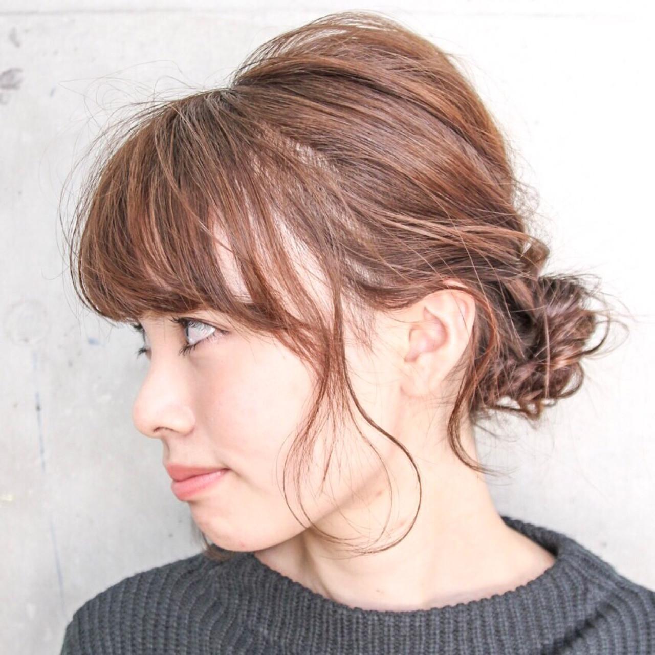 外国人風 簡単ヘアアレンジ ショート 大人女子 ヘアスタイルや髪型の写真・画像   川島 ゆり / ROGUE