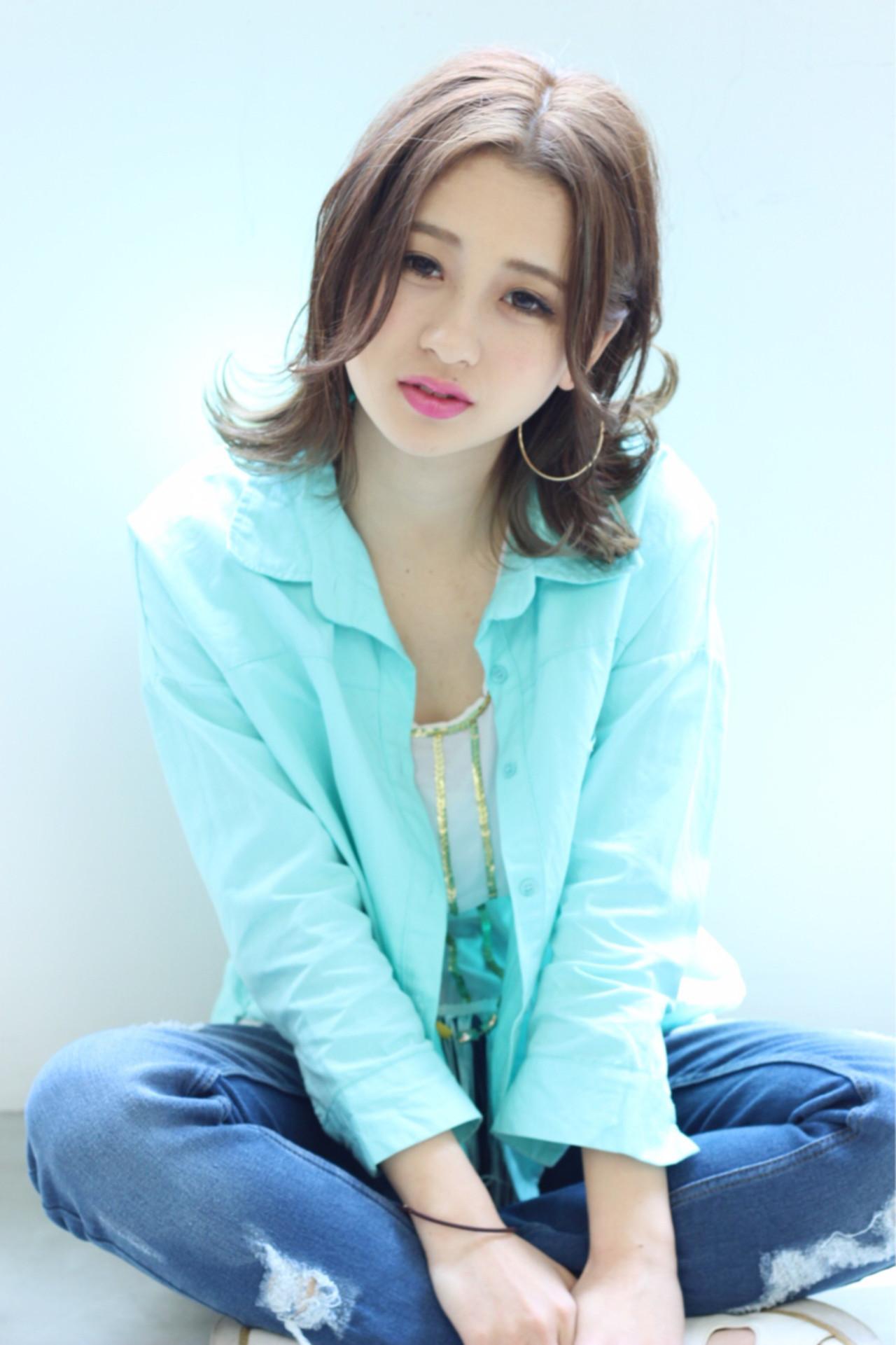 愛され 外国人風カラー アッシュ グレージュ ヘアスタイルや髪型の写真・画像 | 松田 和幸 / tuuli