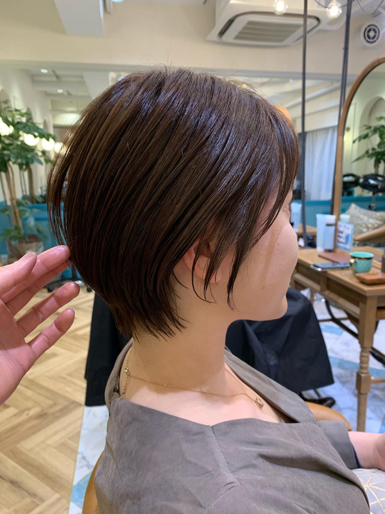 前下がりショート ショート ショートボブ ヘアスタイルや髪型の写真・画像 | 山口 健太 / Lond ange