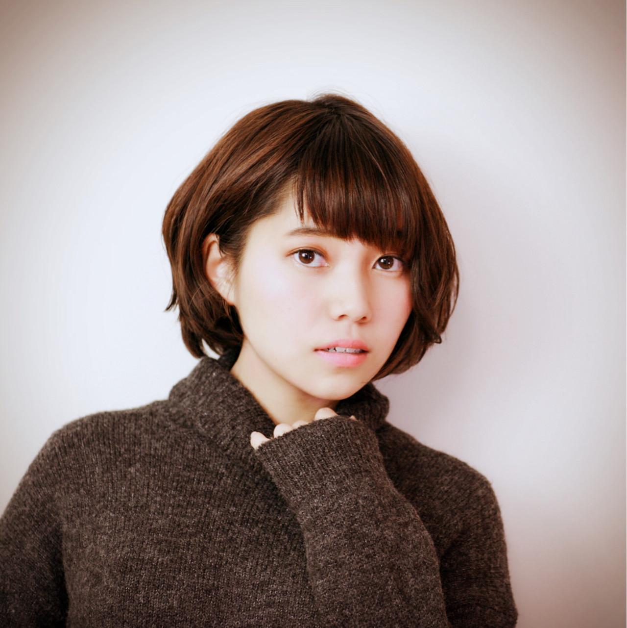 耳かけ ショート アシメバング ナチュラル ヘアスタイルや髪型の写真・画像   吉川 知志 / MA MAISON PRIVEE DE REVES