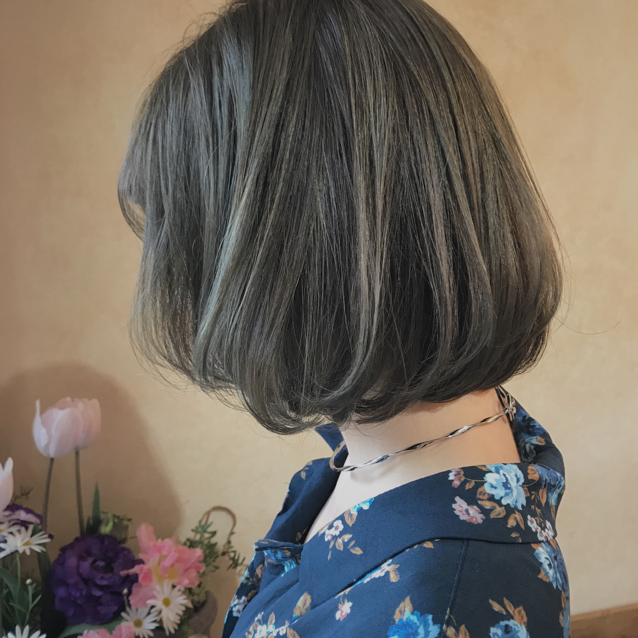 ゆるふわ ハイライト ボブ ナチュラル ヘアスタイルや髪型の写真・画像 | CANAAN山本麻美 / CANAAN