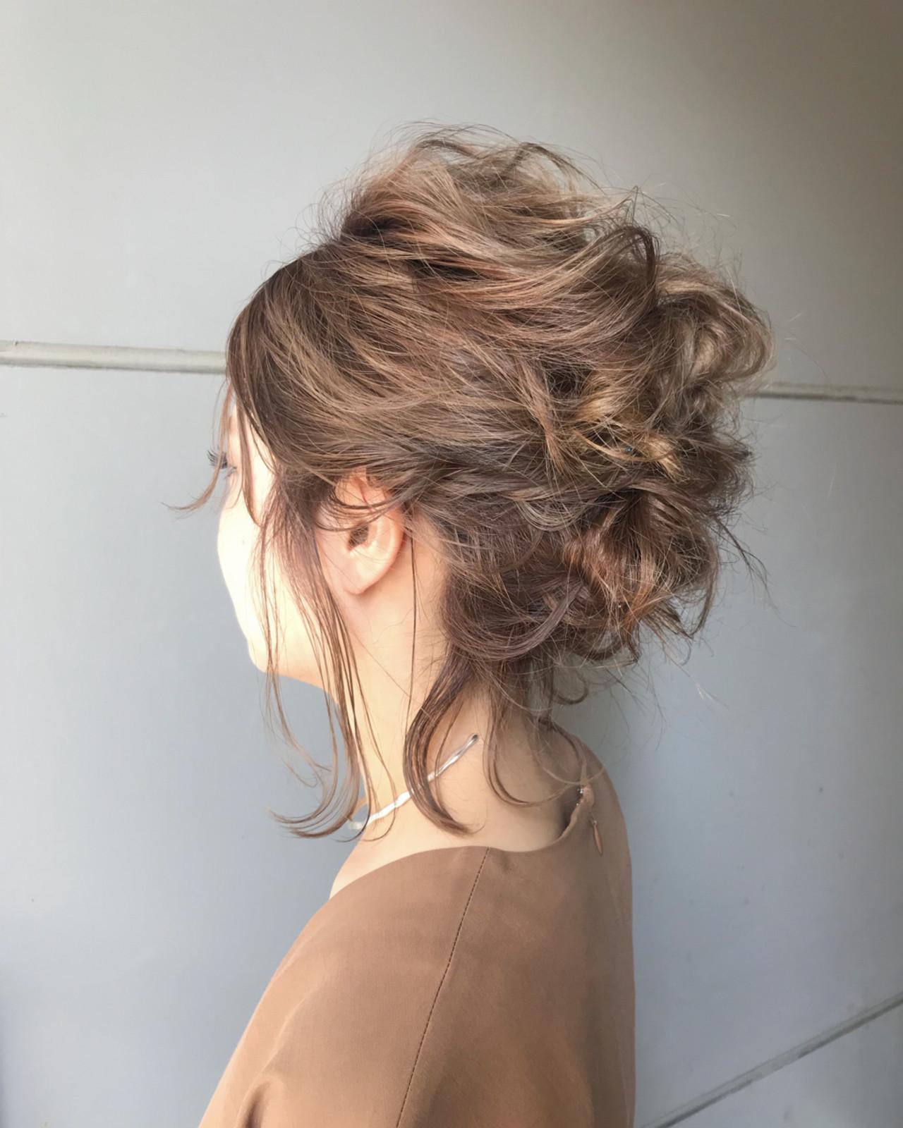 大人かわいい フェミニン ミディアム パーティ ヘアスタイルや髪型の写真・画像   とも / sourire  今泉店