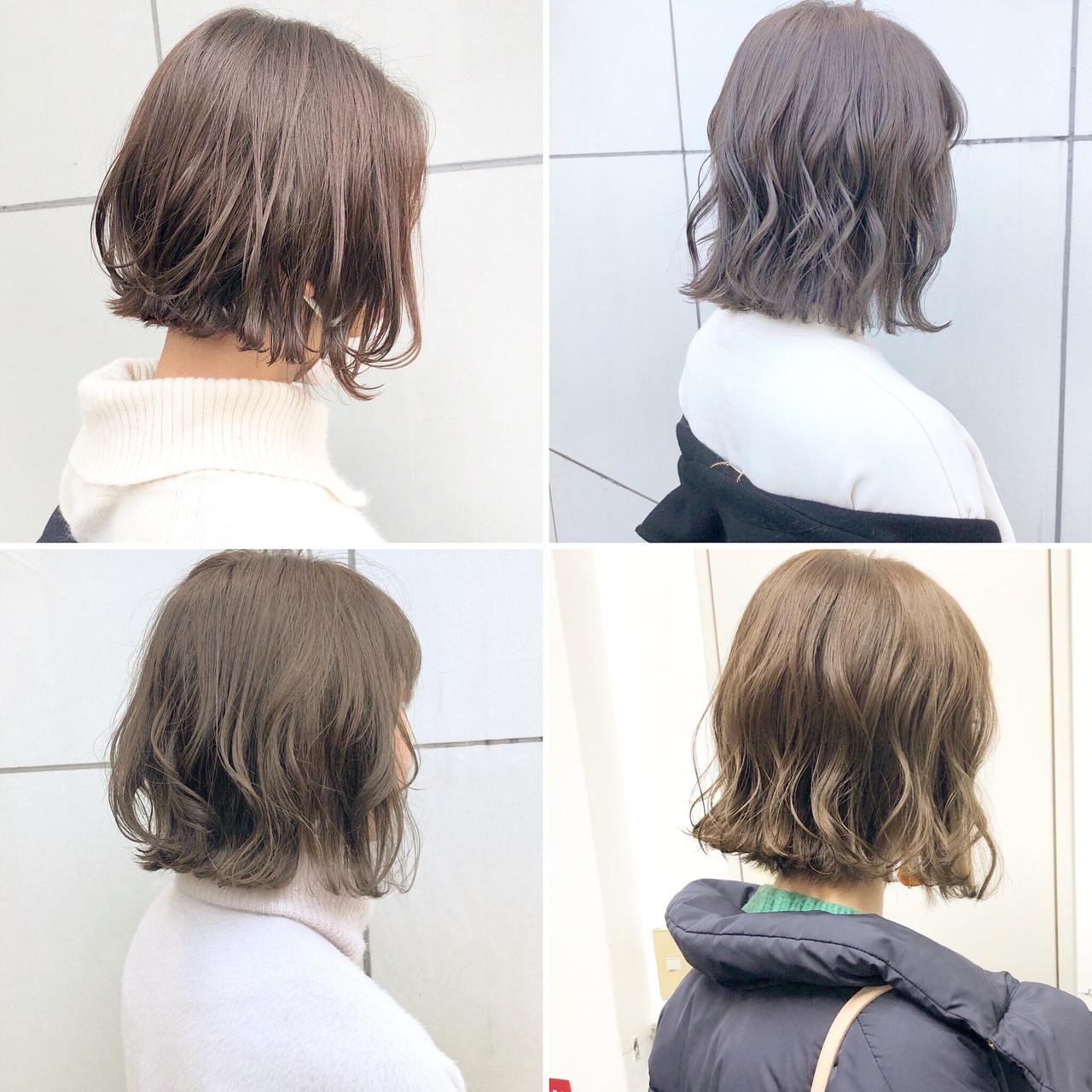 ボブ 切りっぱなし デート 簡単ヘアアレンジ ヘアスタイルや髪型の写真・画像 | 『ボブ美容師』永田邦彦 表参道 / send by HAIR