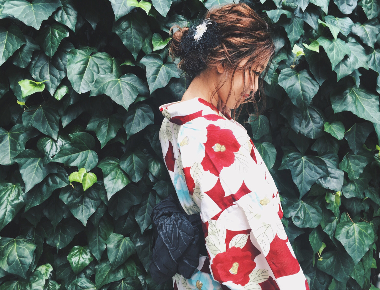 大人かわいい 夏 お祭り 花火大会ヘアスタイルや髪型の写真・画像
