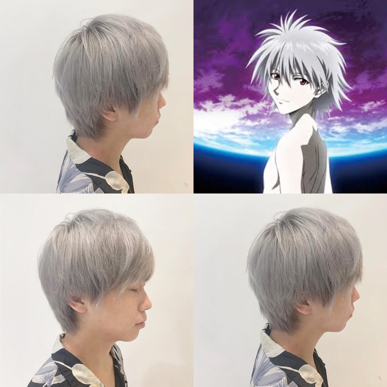 ホワイトカラー ハイトーン ストリート ショート ヘアスタイルや髪型の写真・画像 | ✨daichi✨ 異次元カラー / TAYA/カペリプントニューヨーク