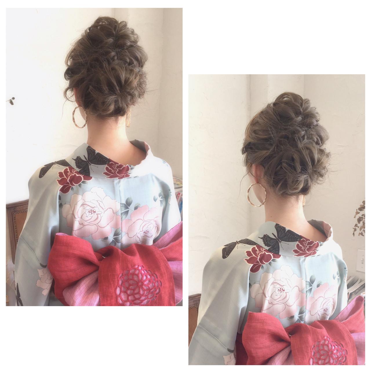 和装 ヘアアレンジ ロング お祭り ヘアスタイルや髪型の写真・画像 | 川内道子 instagram→michiko_k / Noelle インスタ→michiko_k