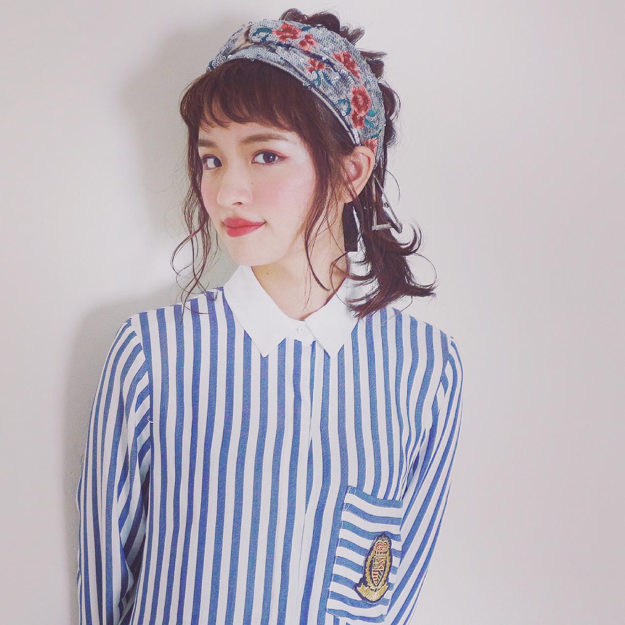 ハーフアップ 編み込み ヘアアレンジ ロング ヘアスタイルや髪型の写真・画像 | ◆Takumi◆ / Beronica