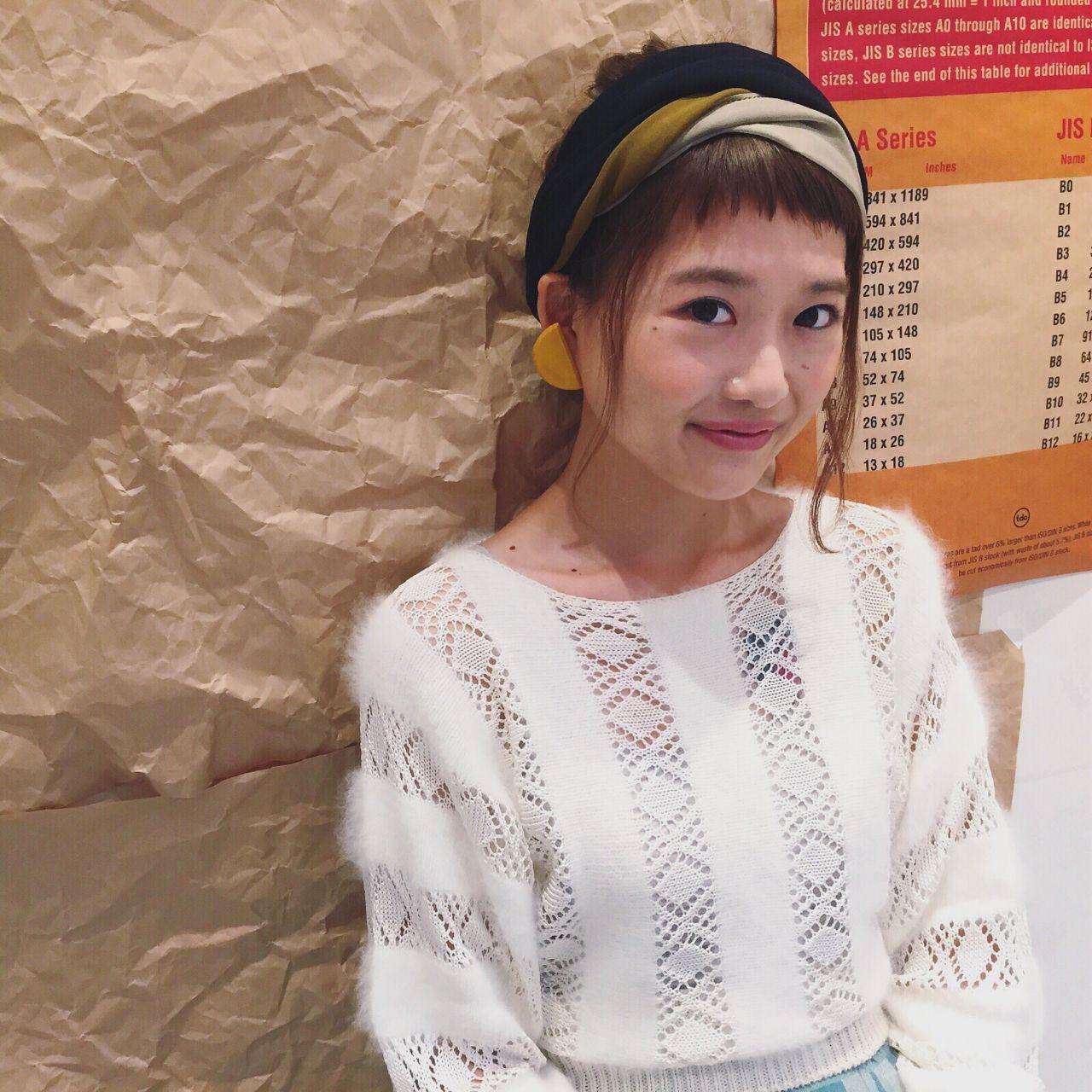 ポニーテール×スカーフで作る簡単可愛いヘアスタイル♡ Chihiro Hayakawa