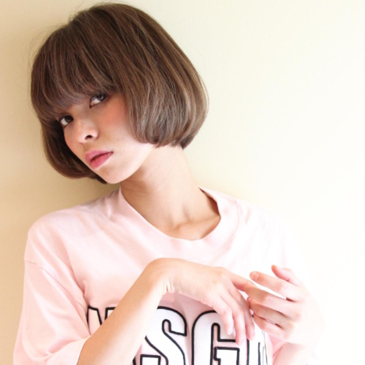 ボブ 大人女子 ニュアンス 色気 ヘアスタイルや髪型の写真・画像 | Masanori Yamasaki / Reuna(レウナ)