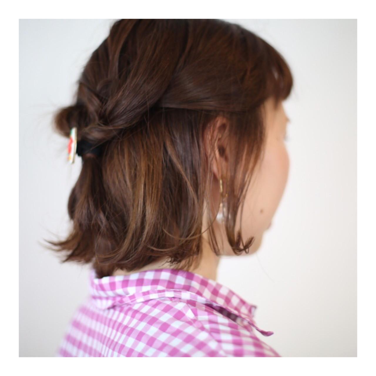 ナチュラル ブリーチ ボブ ダブルカラー ヘアスタイルや髪型の写真・画像 | オノミカ / g.hair design