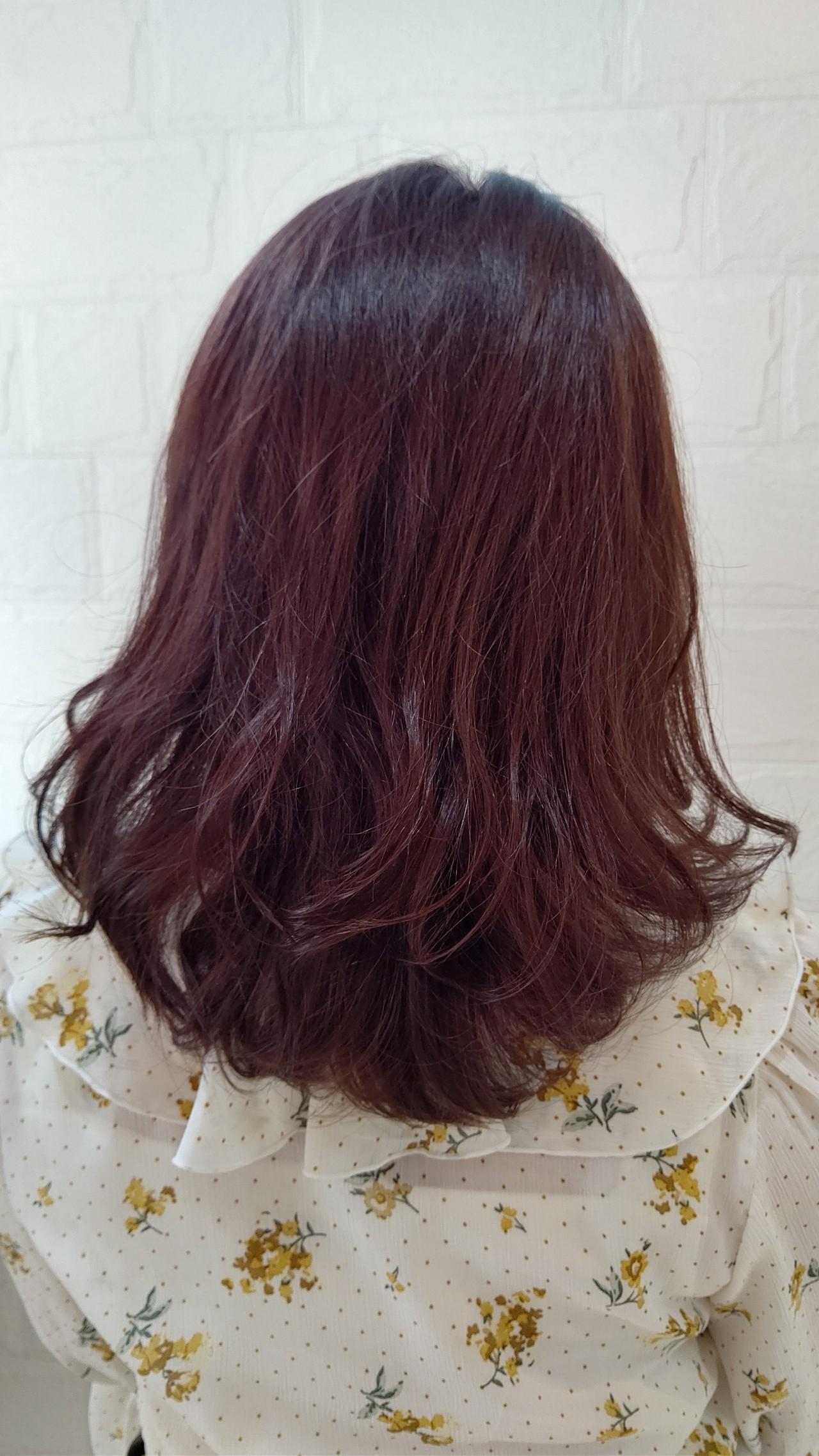 ナチュラル ツヤ髪 ミディアム 秋ヘアスタイルや髪型の写真・画像