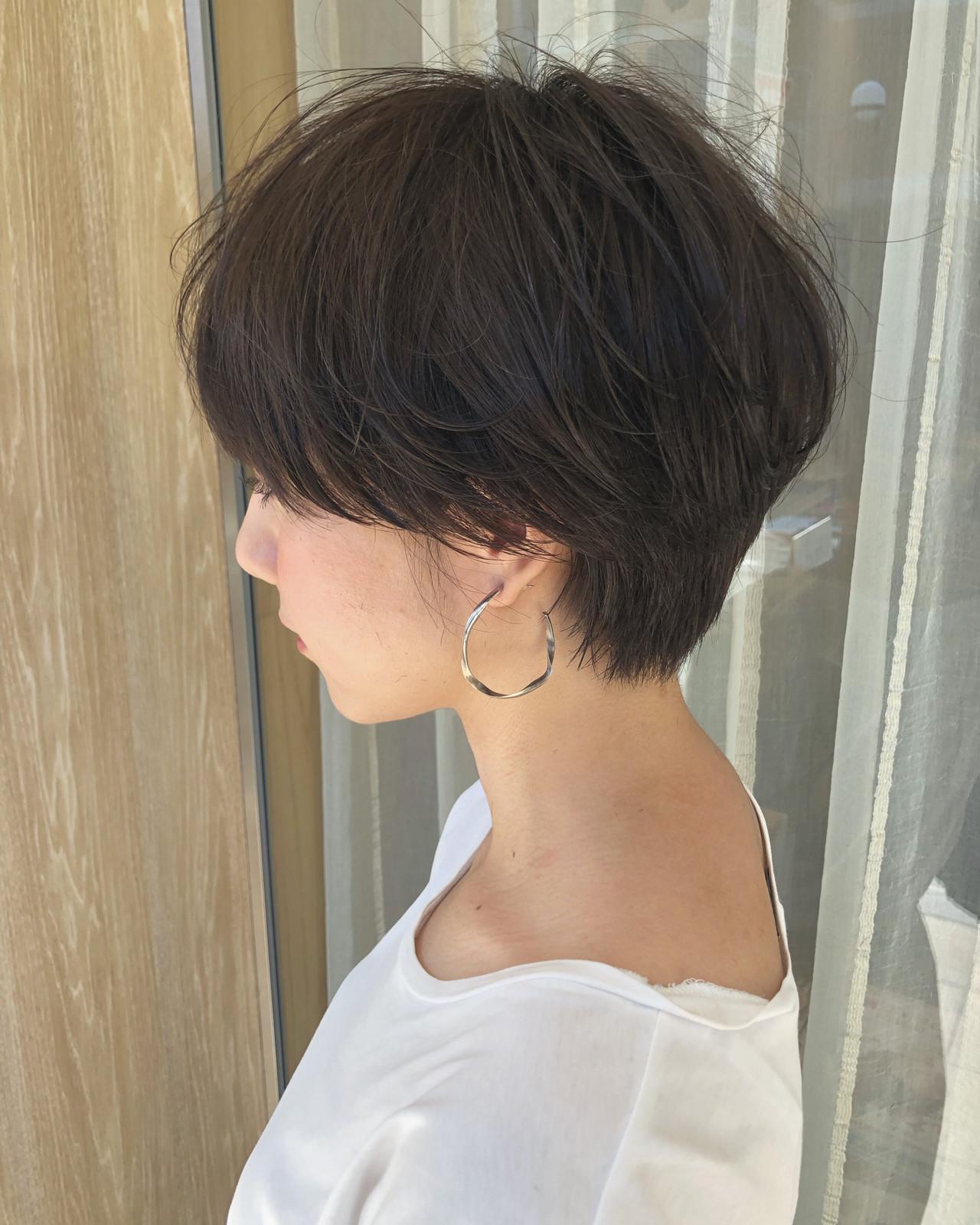 ショートヘア ショートボブ ハンサムショート ナチュラル ヘアスタイルや髪型の写真・画像 | 古関 拓弥 / TREAT HAIR DESIGN