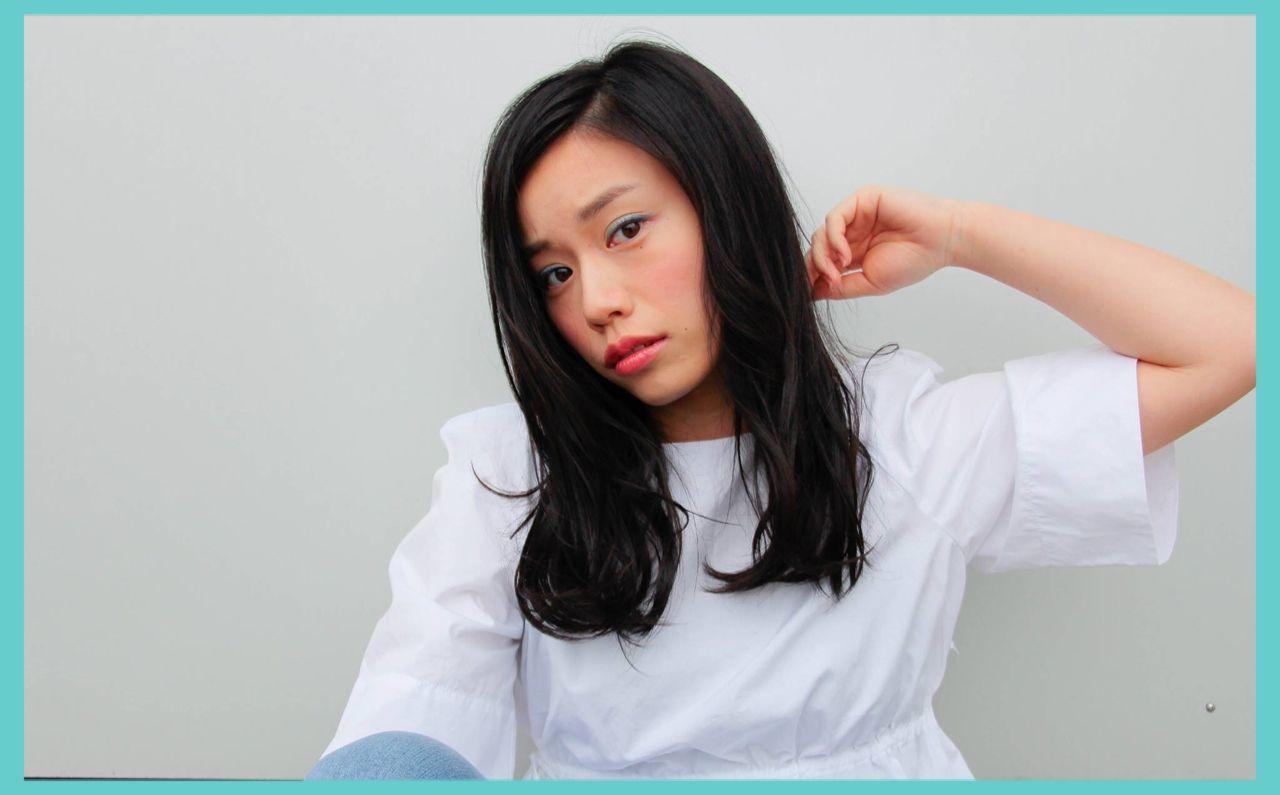 セミロング 春 モード ストリート ヘアスタイルや髪型の写真・画像 | ハセガワ ヒトシ / Spice Hair
