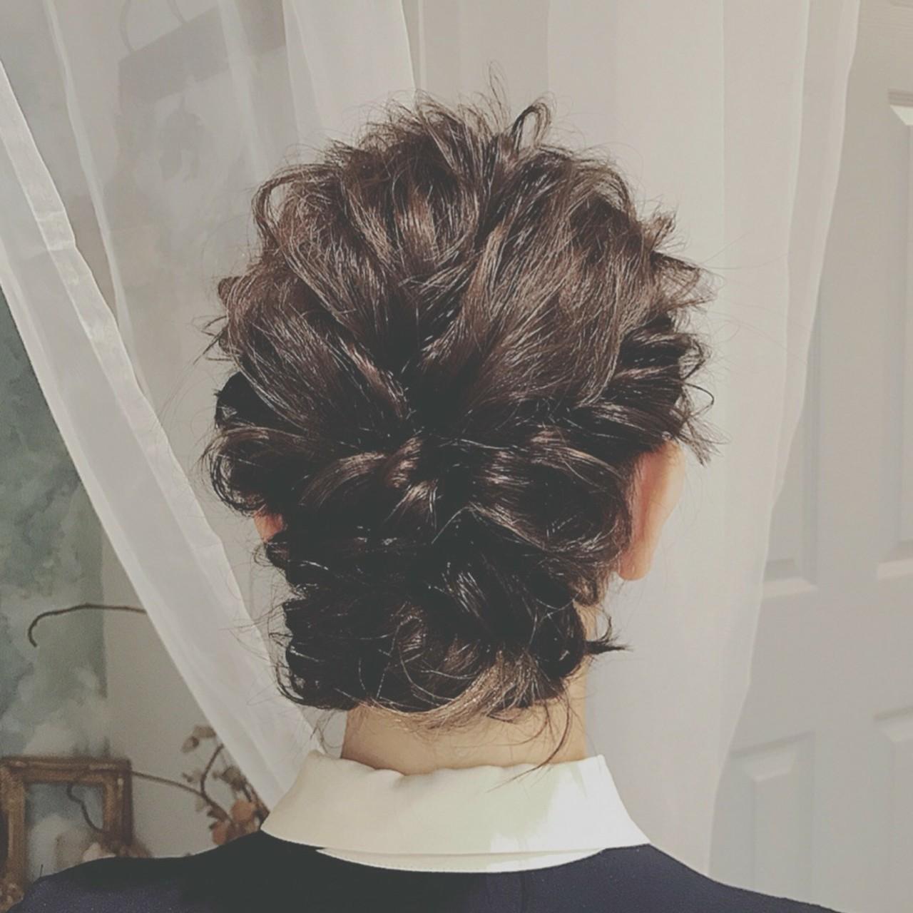大人かわいい パーティ ミディアム フェミニンヘアスタイルや髪型の写真・画像