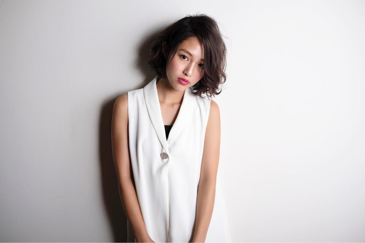 冬 外国人風 ボブ 色気 ヘアスタイルや髪型の写真・画像 | 山口純一郎 / hair design Sola
