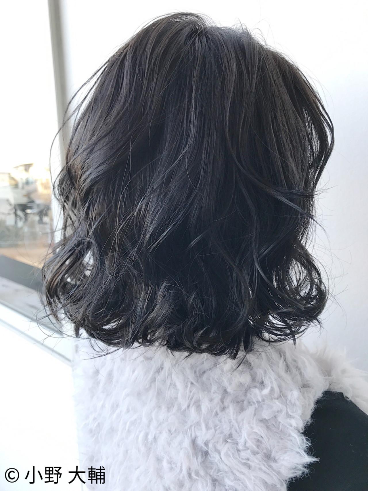 冬 ボブ アッシュ ナチュラル ヘアスタイルや髪型の写真・画像 | 小野 大輔 / OHIA  for plumeria