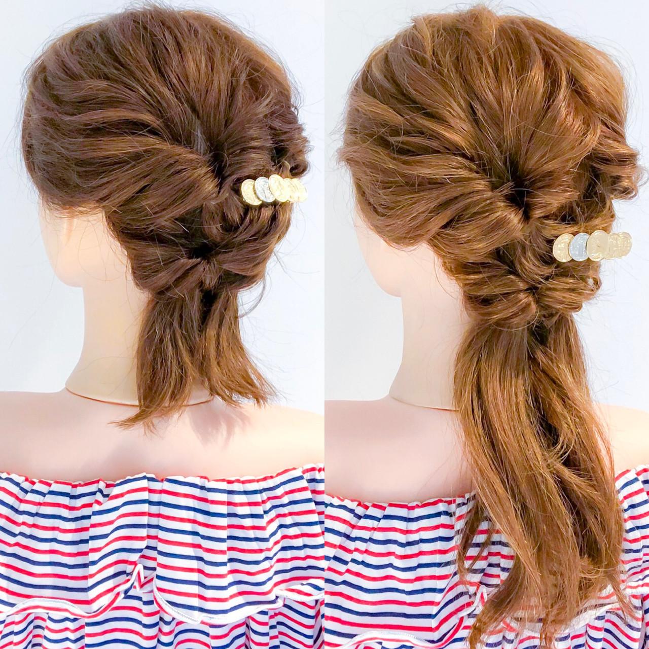 エレガント 簡単ヘアアレンジ ヘアアレンジ デート ヘアスタイルや髪型の写真・画像 | 美容師HIRO/Amoute代表 / Amoute/アムティ