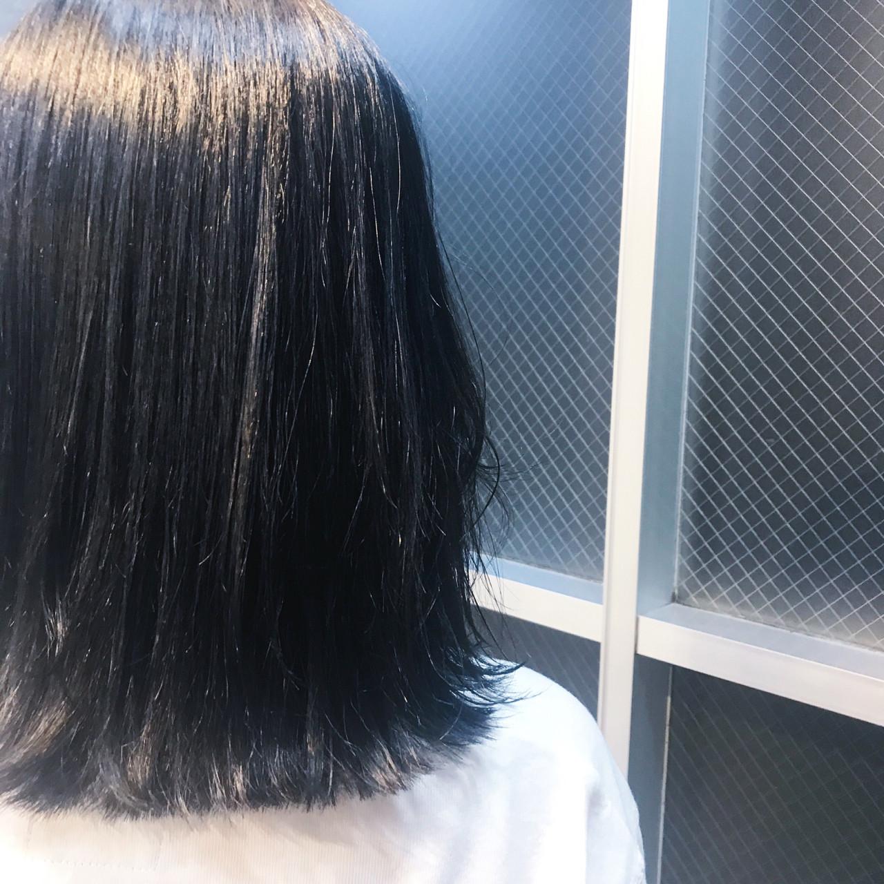 ネイビー ネイビーアッシュ ブルー 女子力 ヘアスタイルや髪型の写真・画像 | 堀 雄大 / cinq by fifth