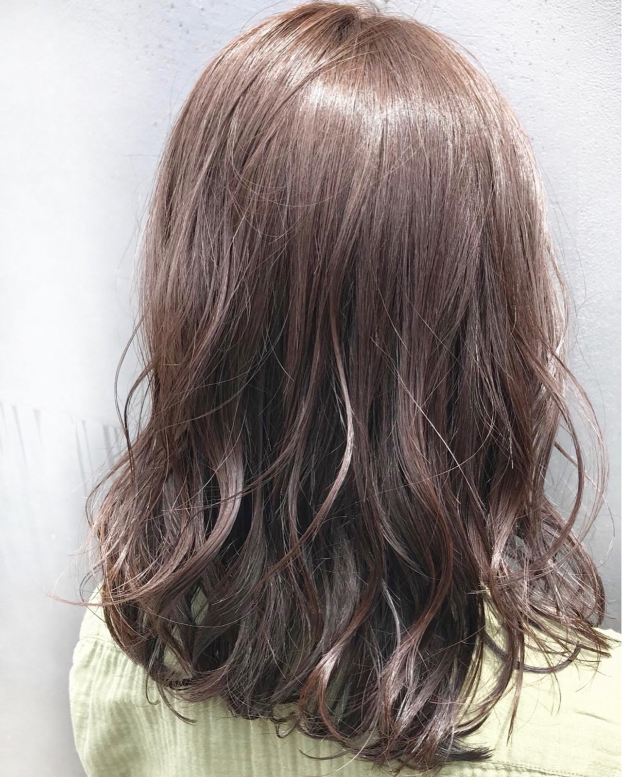 ミディアム ストレート ゆるふわ ナチュラル ヘアスタイルや髪型の写真・画像 | 【星野 達】 Joule South / Joule South