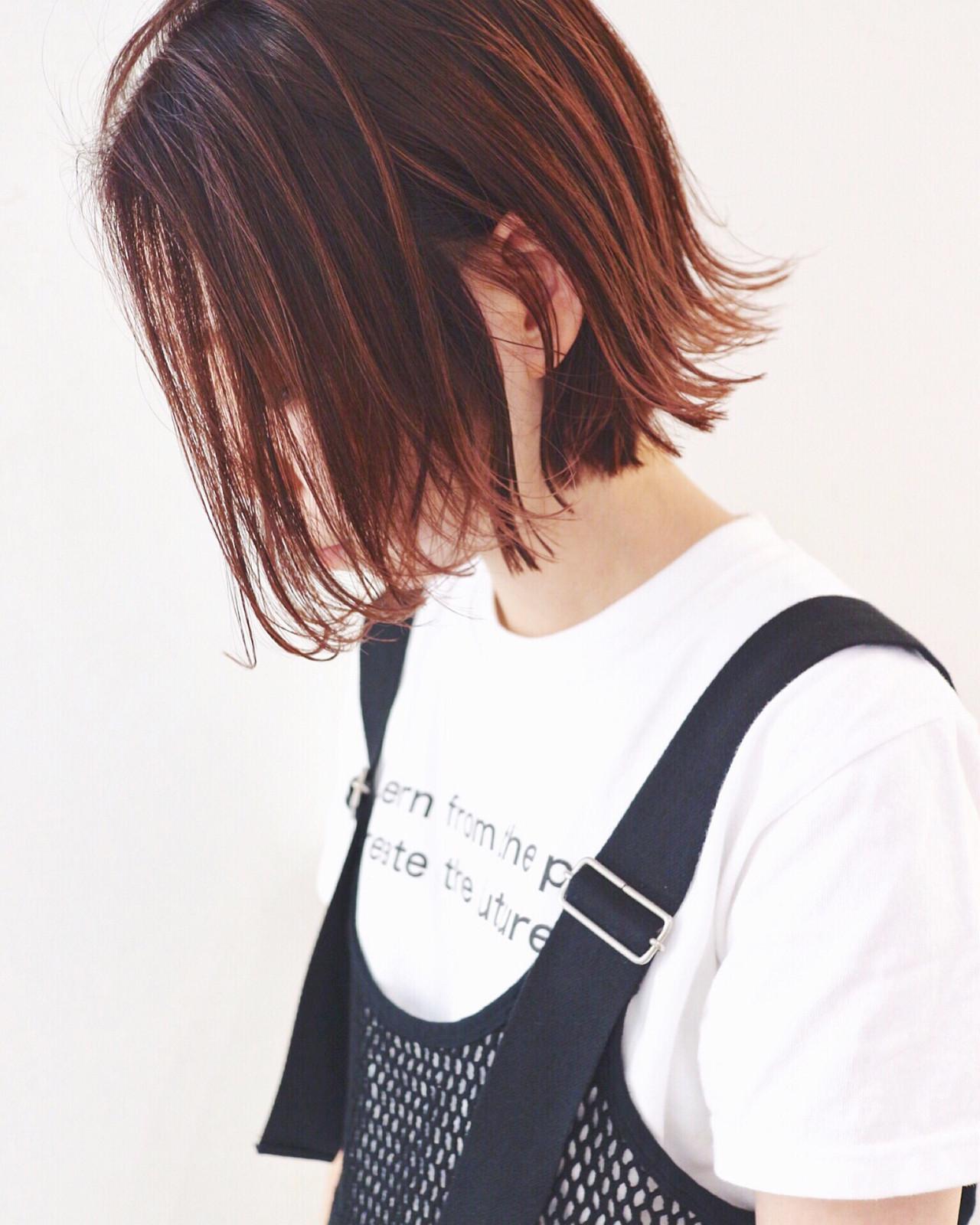 ボブ 外国人風カラー ミニボブ ストリート ヘアスタイルや髪型の写真・画像 | 三好 佳奈美 / Baco.(バコ)