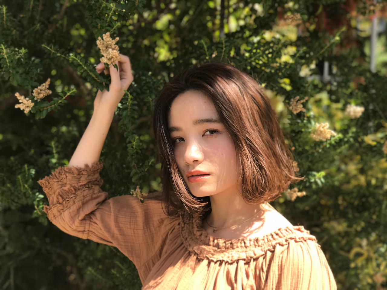 ふわふわ パーマ オシャレ オフィス ヘアスタイルや髪型の写真・画像 | 成田沙也加 / tricca Daikanyama