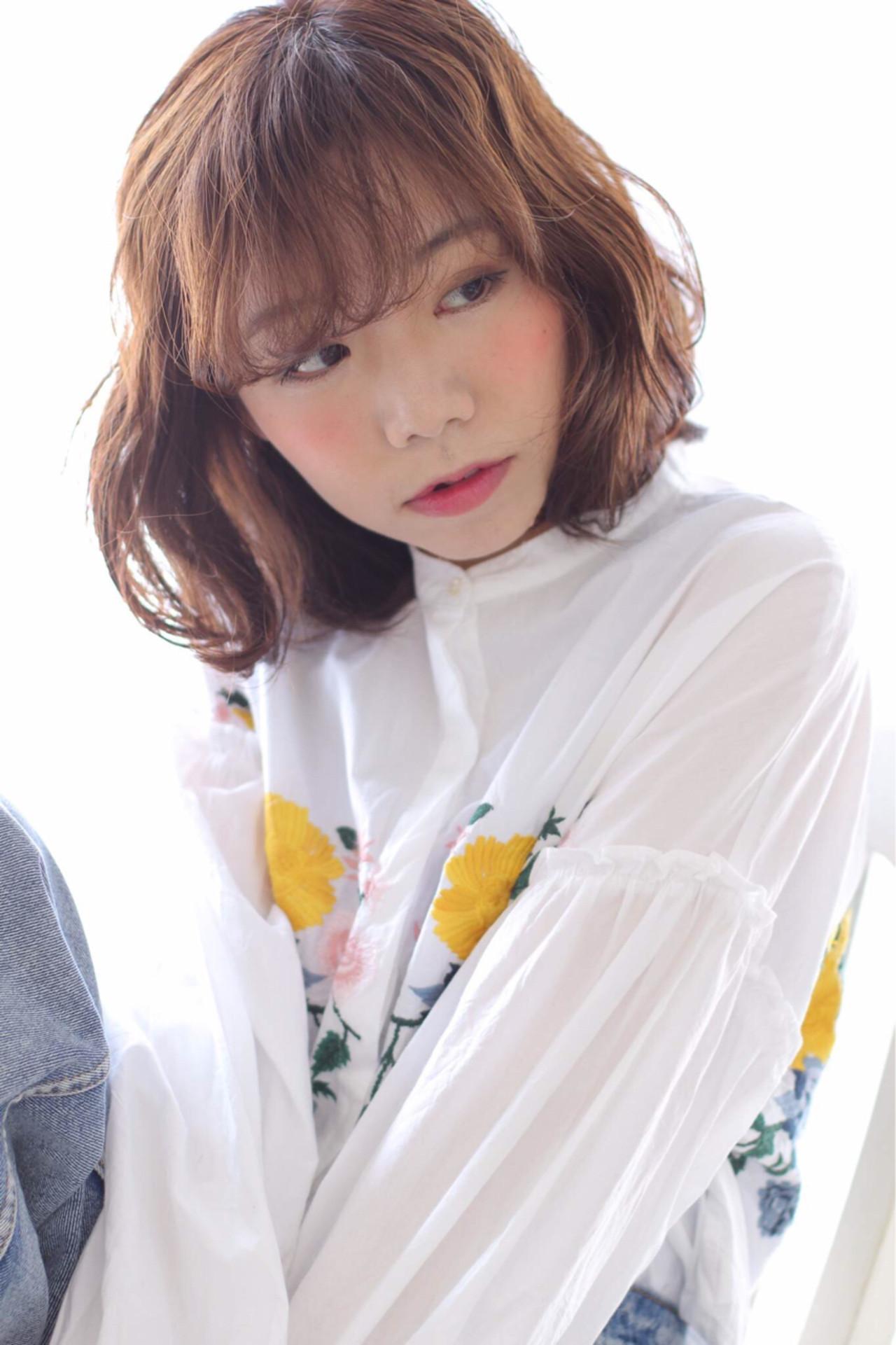 ナチュラル ミルクティー 色気 デート ヘアスタイルや髪型の写真・画像 | risa /