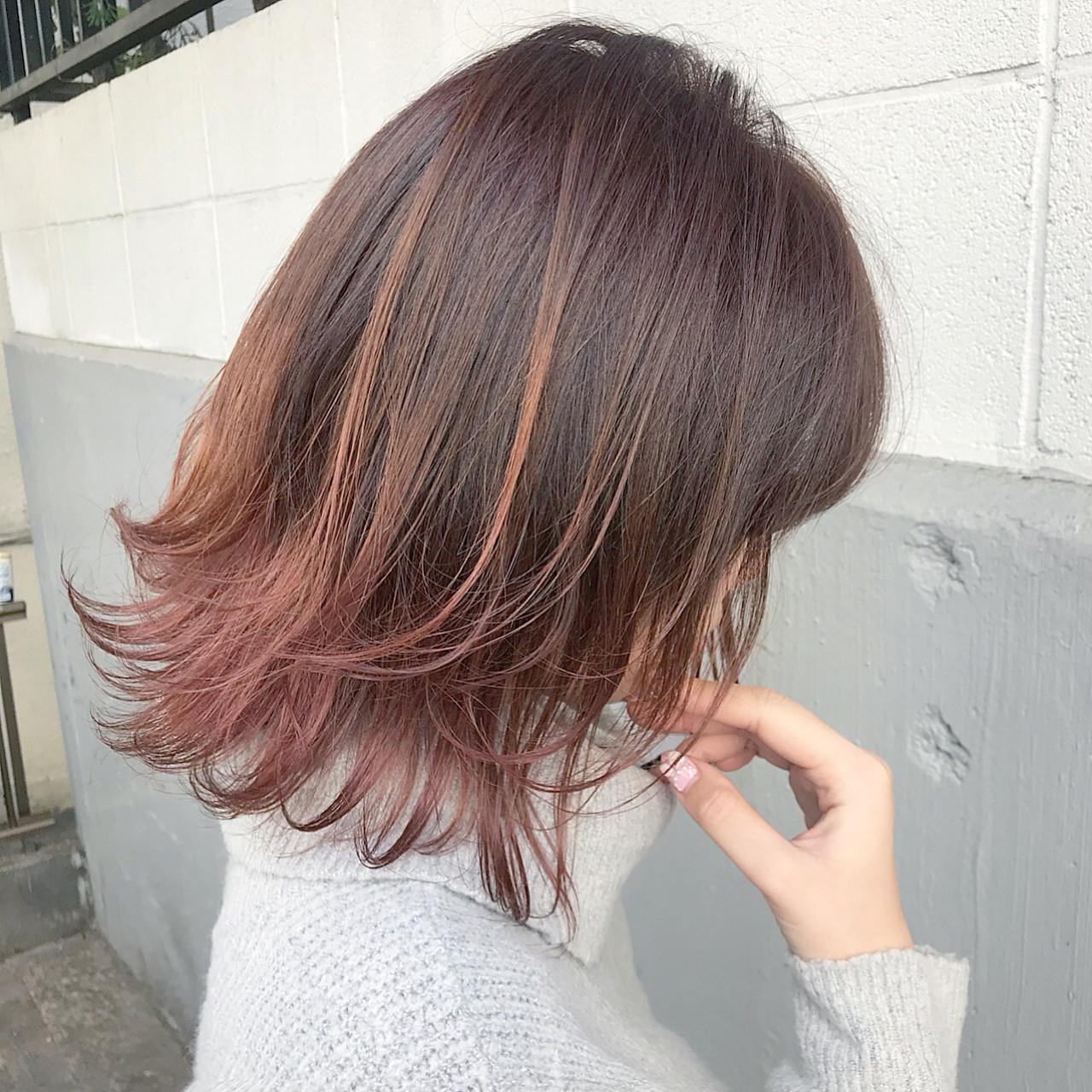 ストリート ミディアム 冬 秋ヘアスタイルや髪型の写真・画像
