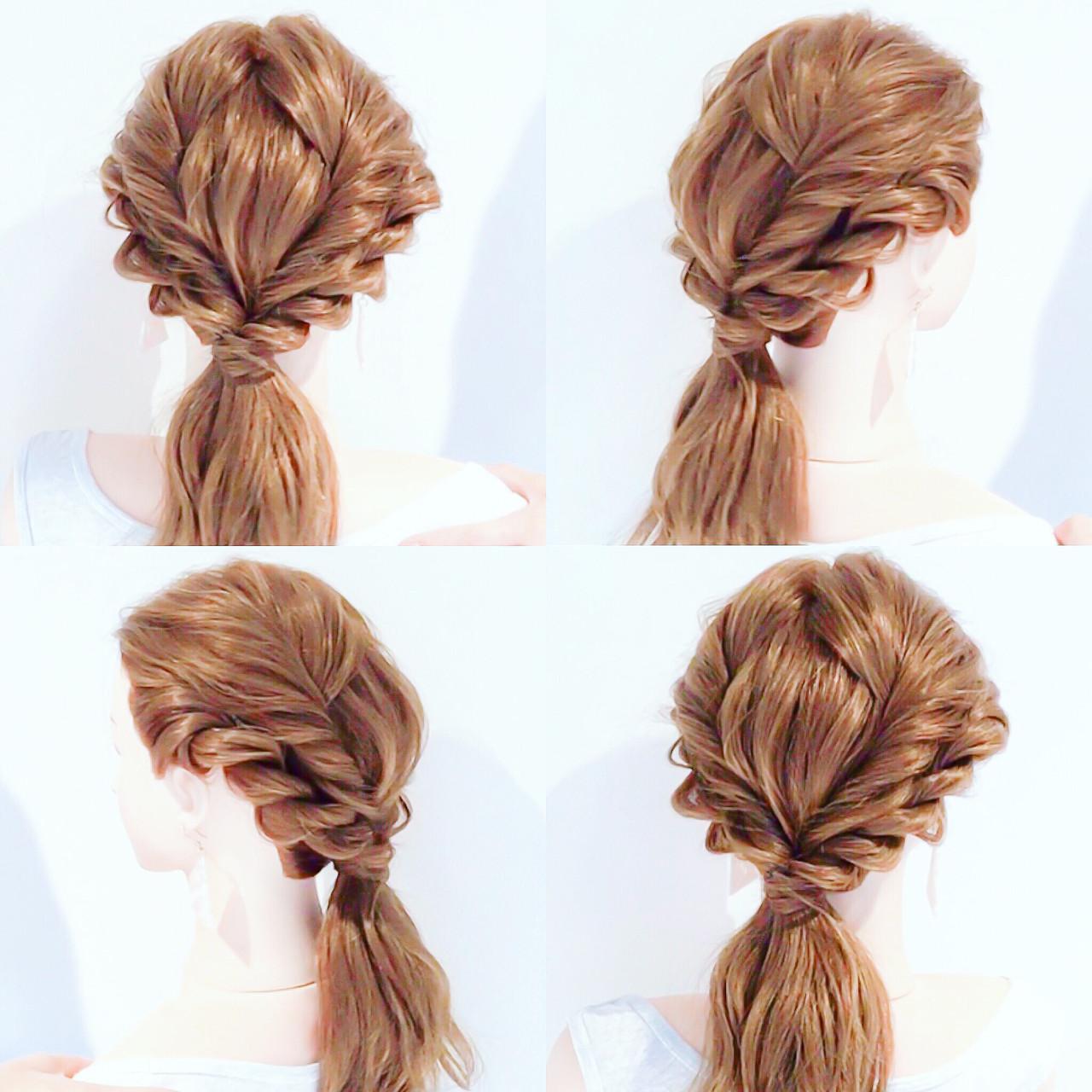 ロング フェミニン ローポニーテール ポニーテールアレンジ ヘアスタイルや髪型の写真・画像 | 美容師HIRO/Amoute代表 / Amoute/アムティ
