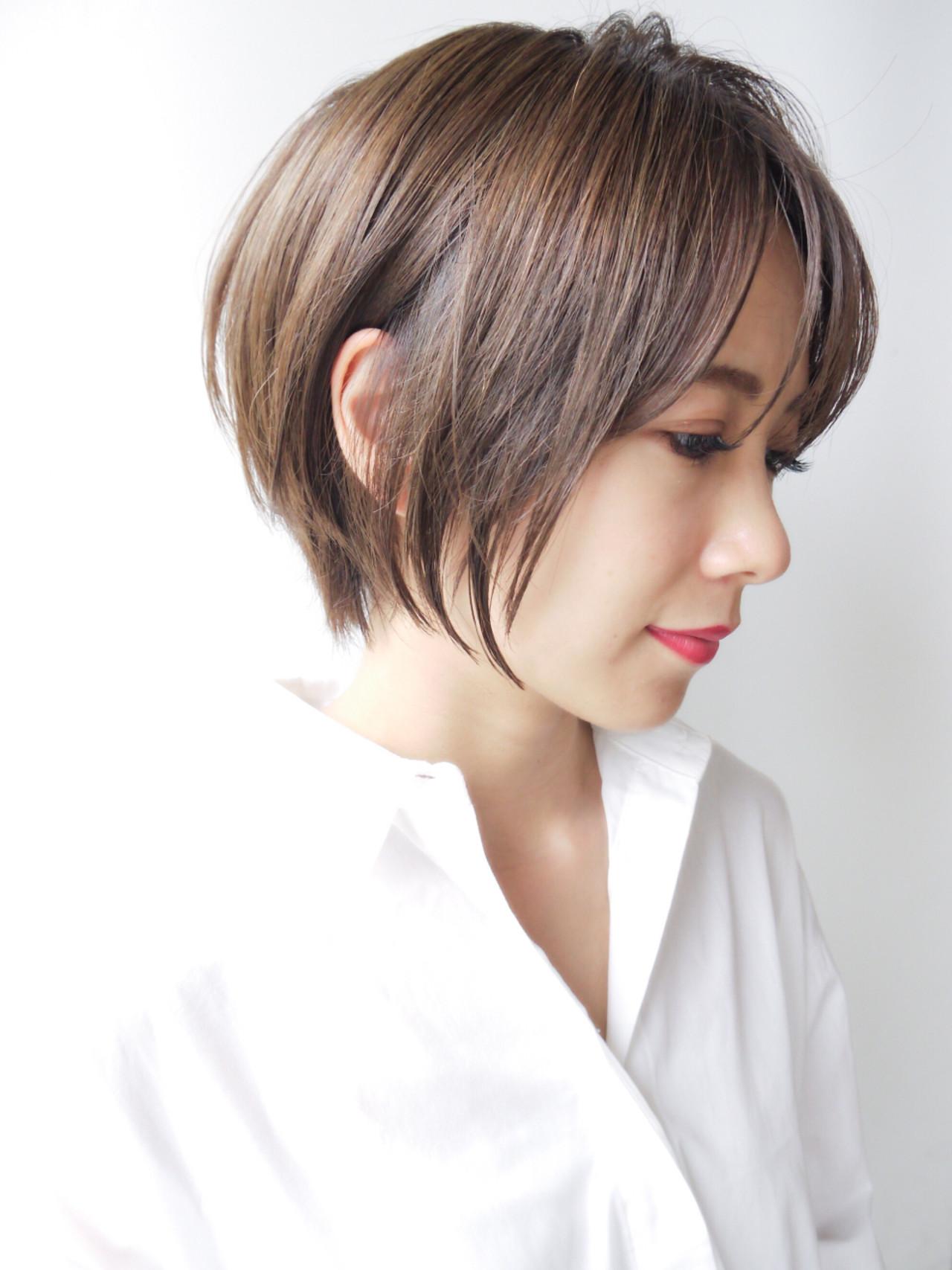 大人かわいい ショート 愛され オフィス ヘアスタイルや髪型の写真・画像 | HIROKI / roijir / roijir