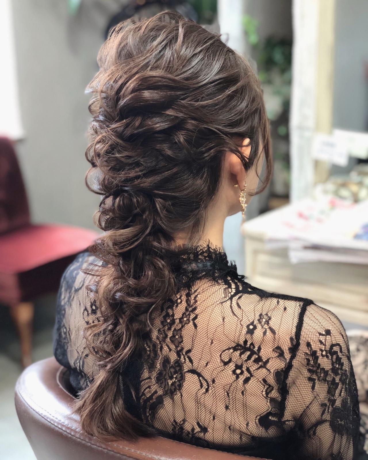 上品 パーティ ロング 大人かわいい ヘアスタイルや髪型の写真・画像 | hii.de@✂︎ / Maison de sisi