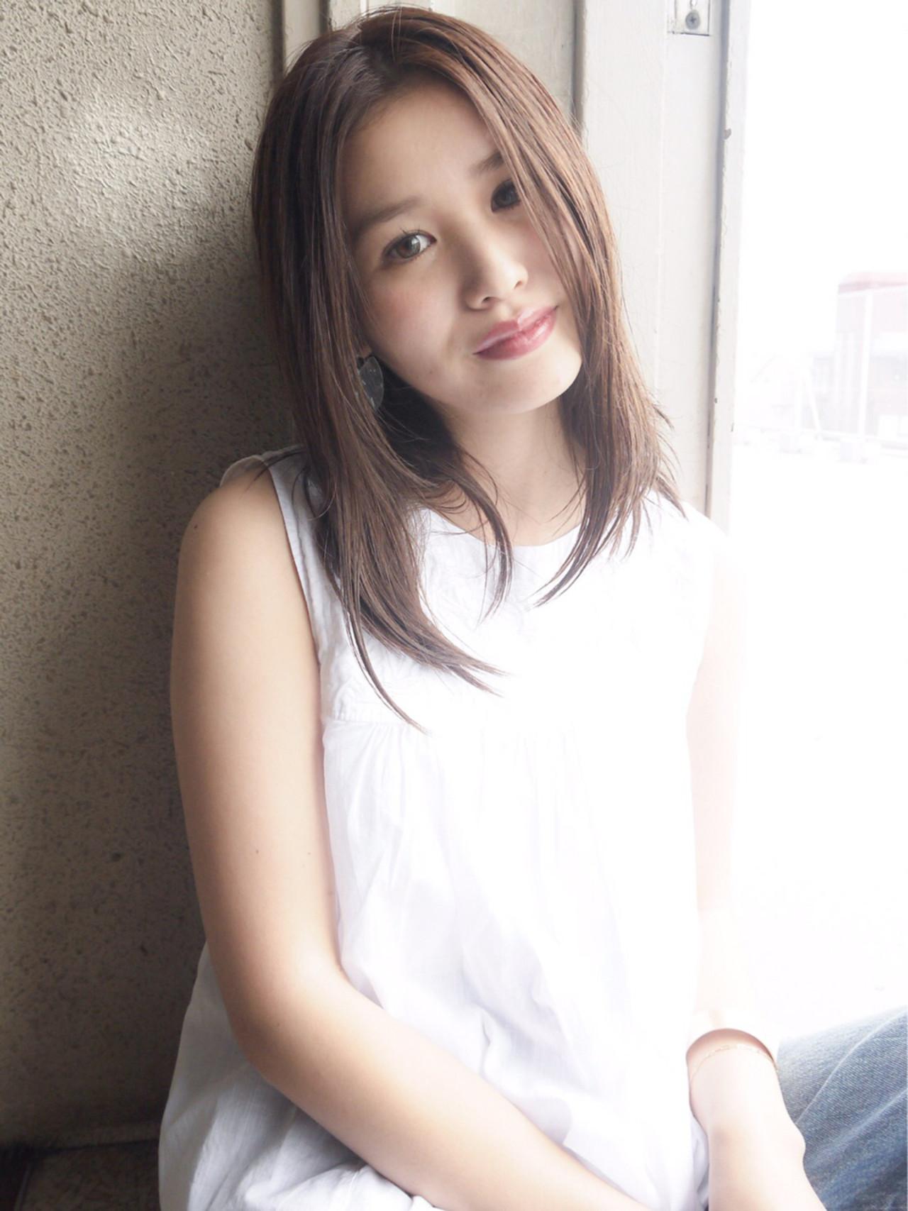 大人かわいい モテ髪 愛され グレージュ ヘアスタイルや髪型の写真・画像 | HIROKI / roijir / roijir
