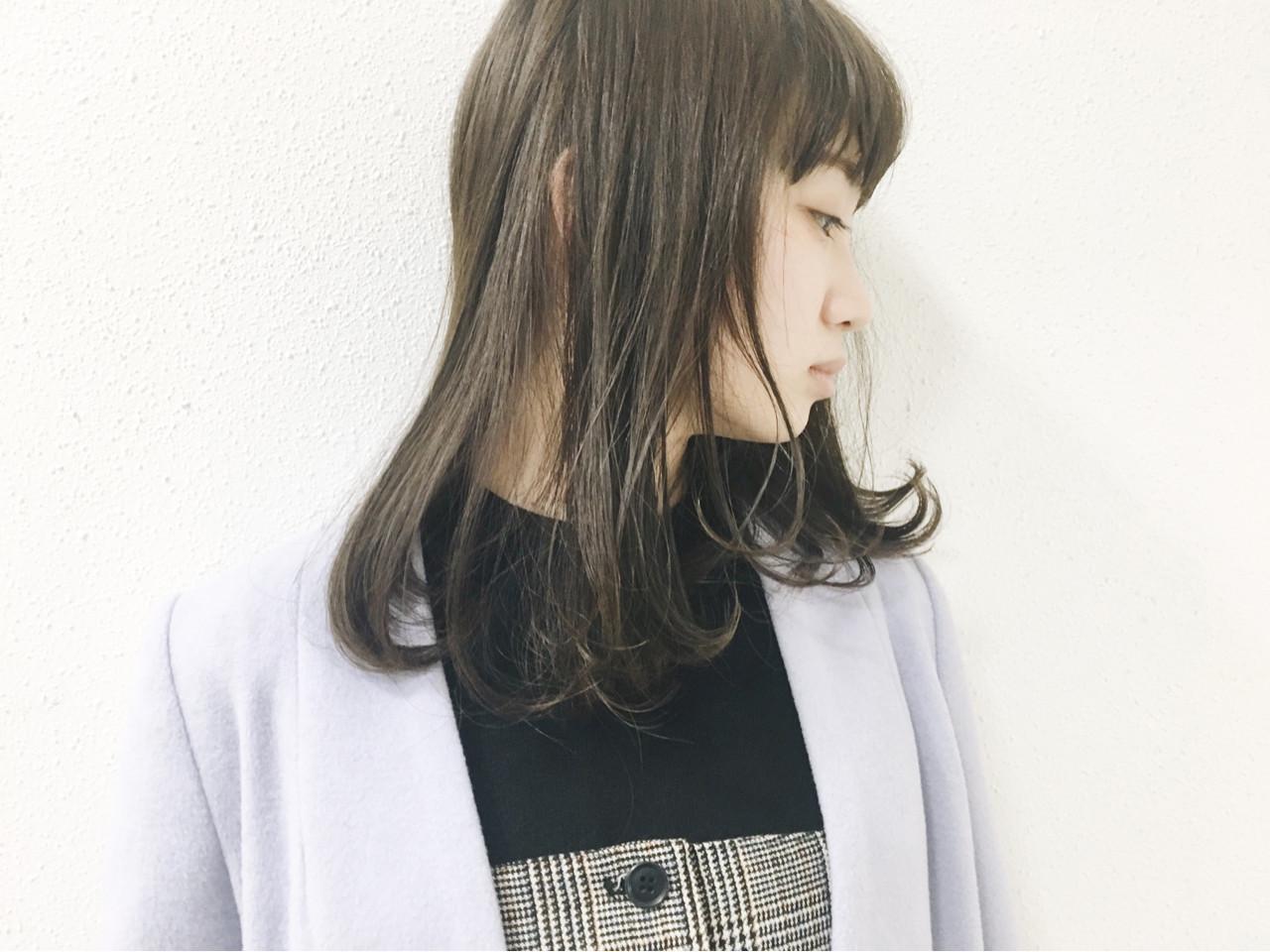 グレージュ ダークアッシュ ナチュラル オリーブアッシュ ヘアスタイルや髪型の写真・画像 | 長 賢太郎 / ky-go