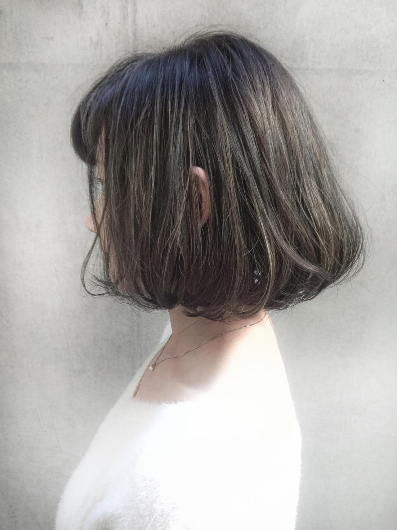 ストリート ボブ ハイライト 黒髪 ヘアスタイルや髪型の写真・画像 | スガ シュンスケ / Tierra (ティエラ)